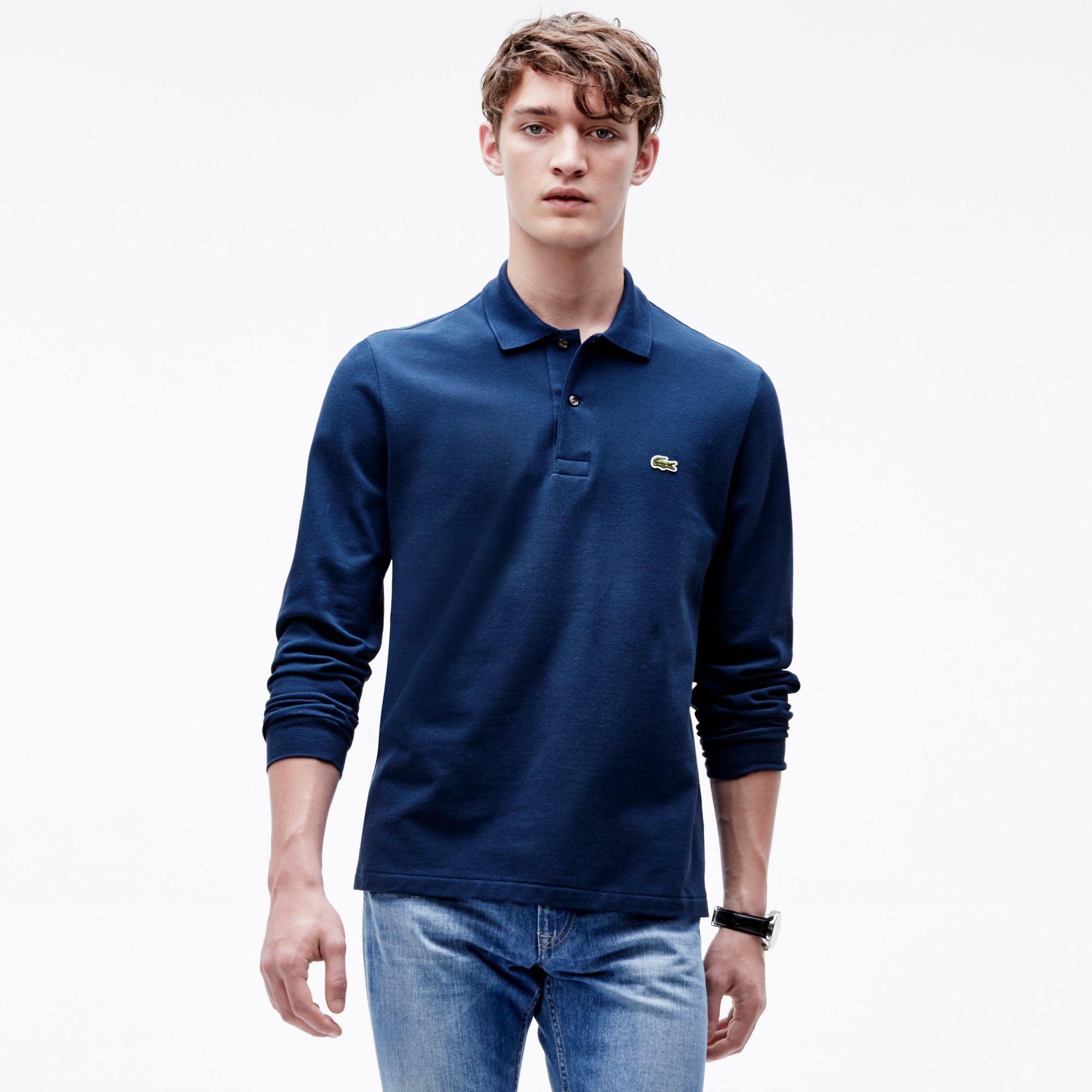 Long-sleeve Lacoste L.12.12 Polo Shirt. Colour : PHILIPPINES BLUE