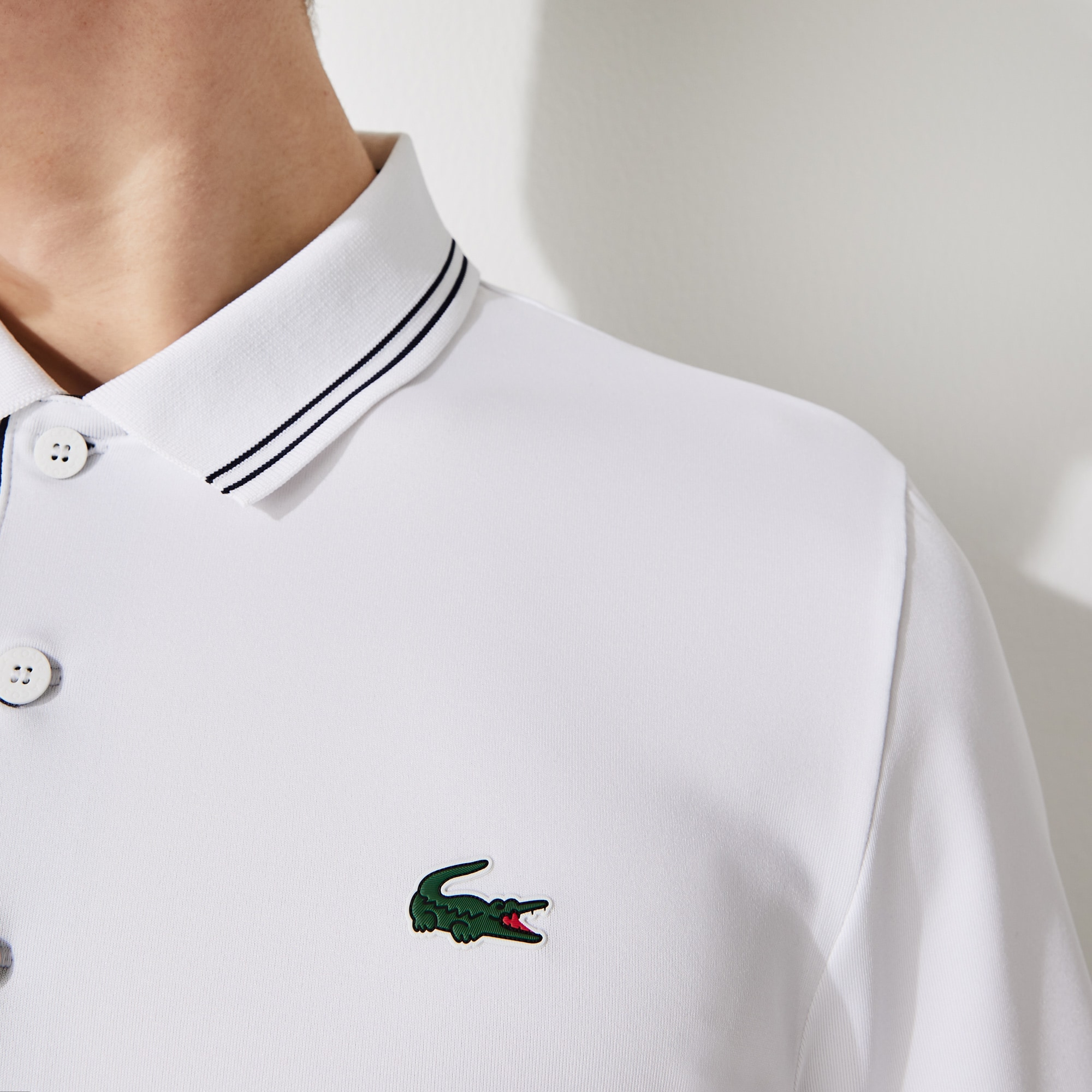 Men's Lacoste SPORT Signature Breathable Golf Polo Shirt
