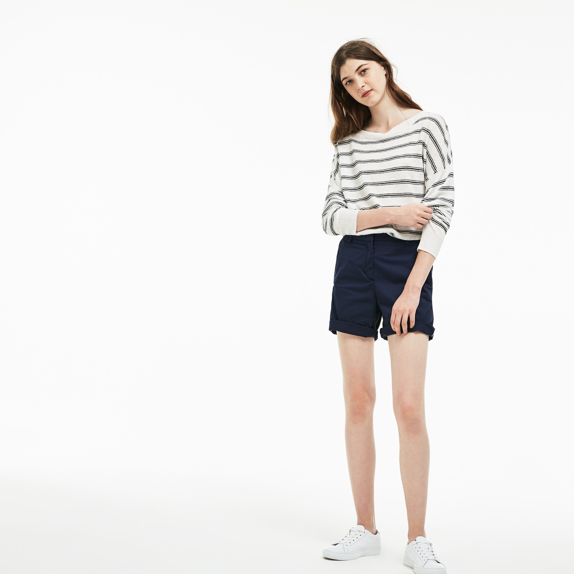 Women's Chino Cut Stretch Gabardine Bermuda Shorts