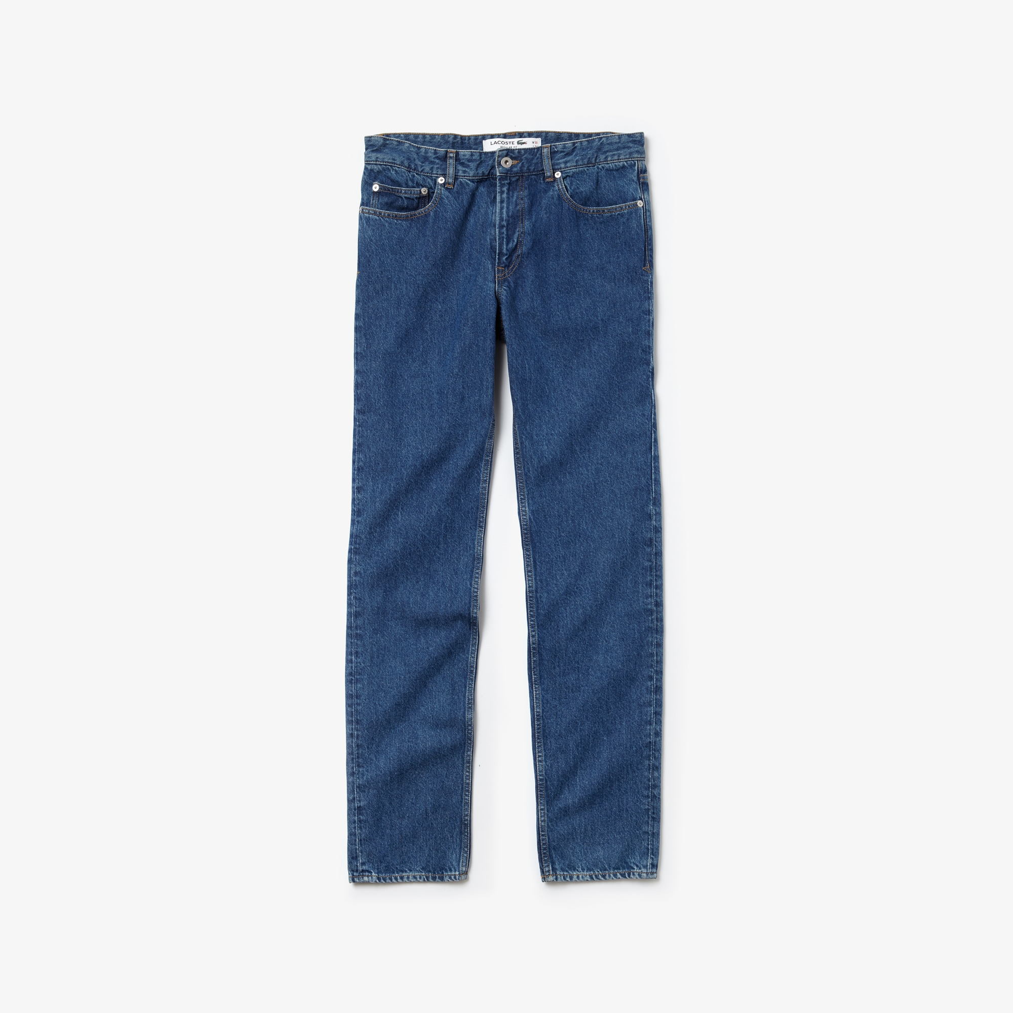 Men's Straight Cut Five-Pocket Cotton Denim Jeans