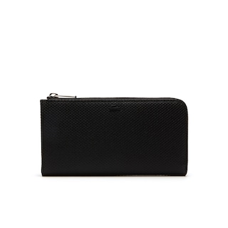 Men's Chantaco Matte Piqué Leather 12 Card Zip Wallet