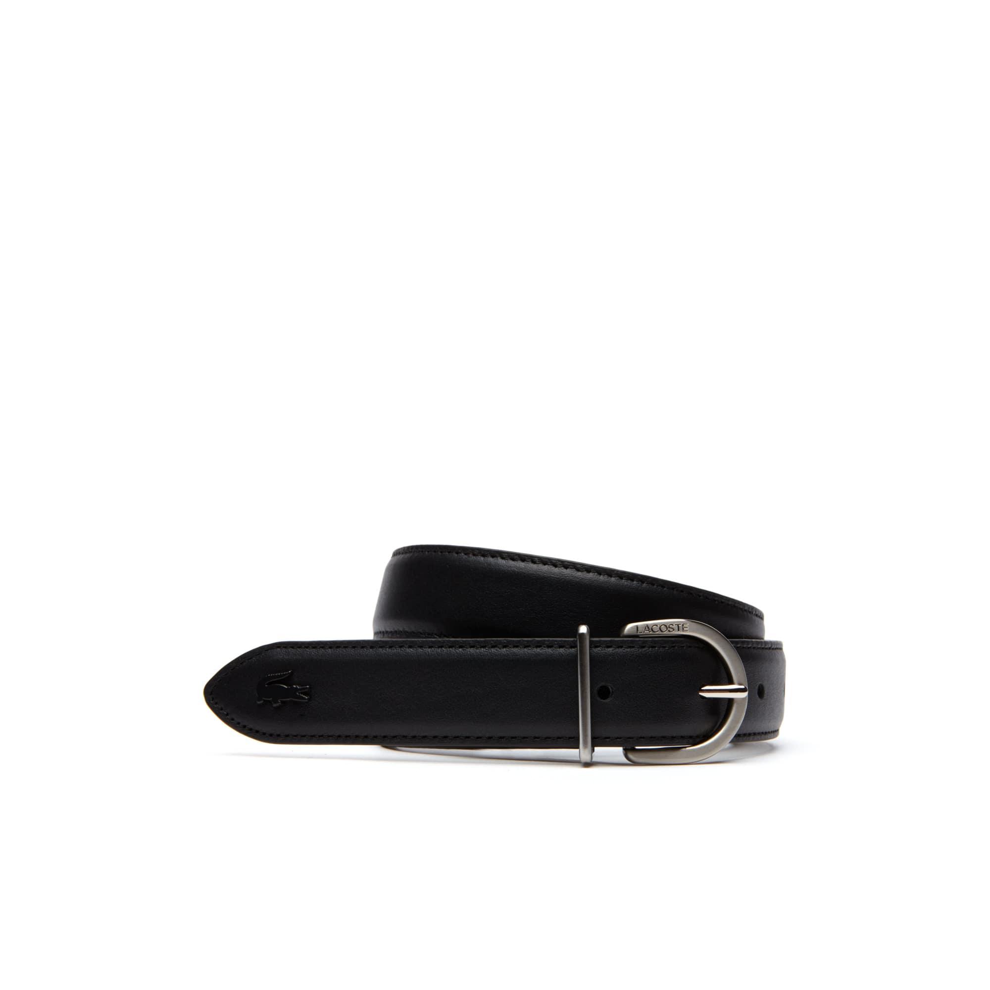 e1ddee120241c7 ... Lacoste Engraved Tongue Buckle Leather Belt. Colour   BLACK