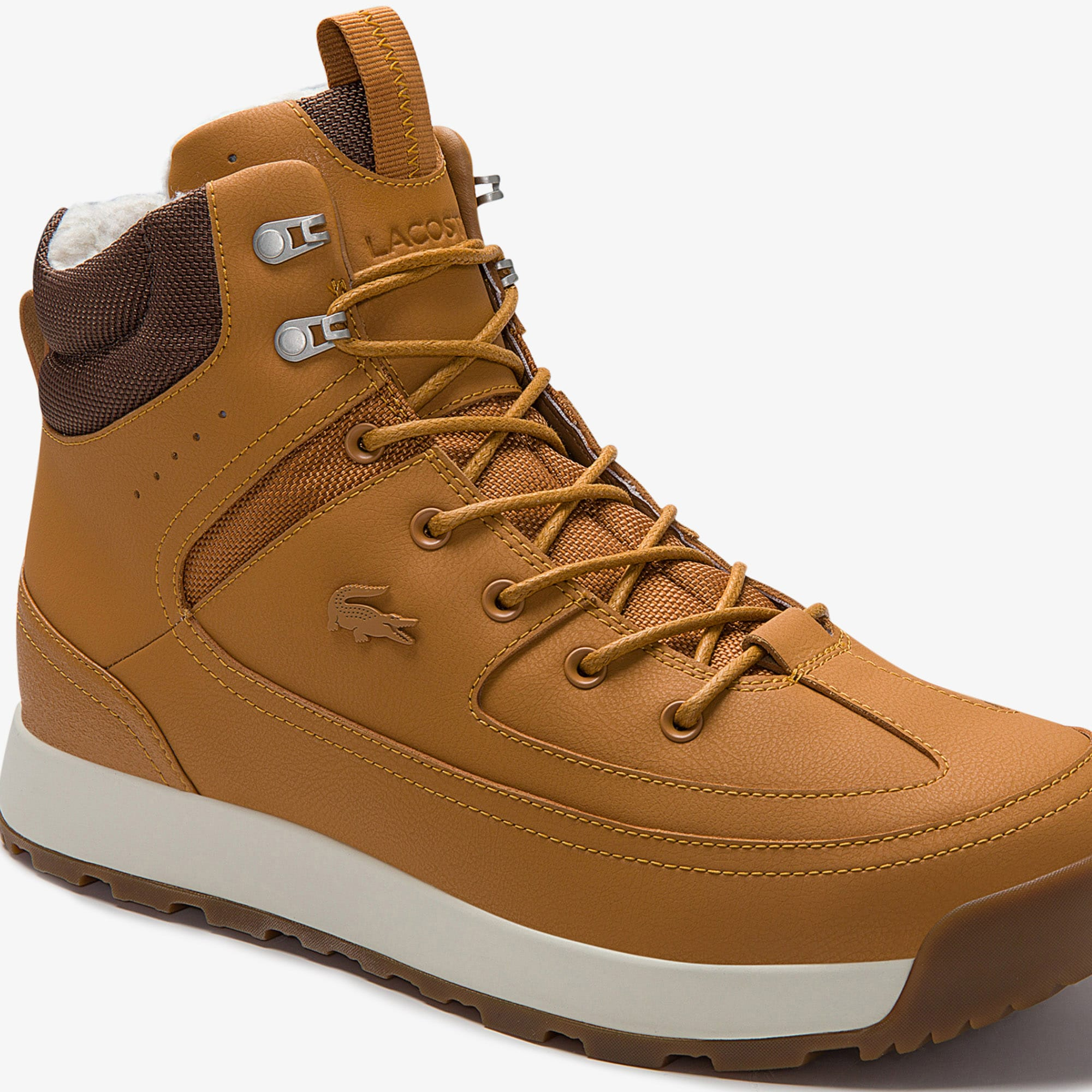 6f7dc719e75 Men's Urban Breaker Leather and Textile Hiking Boots | LACOSTE