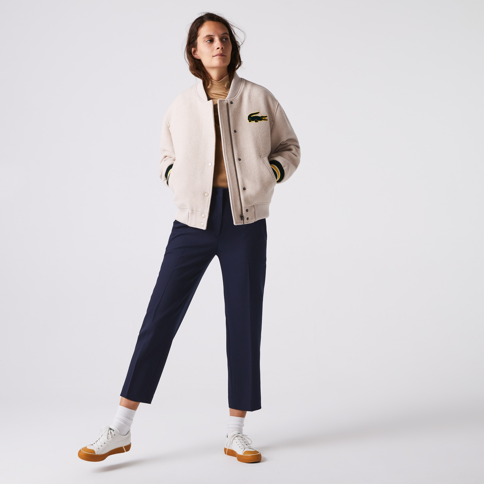 Women's Wool Blend Cigarette Pants | LACOSTE