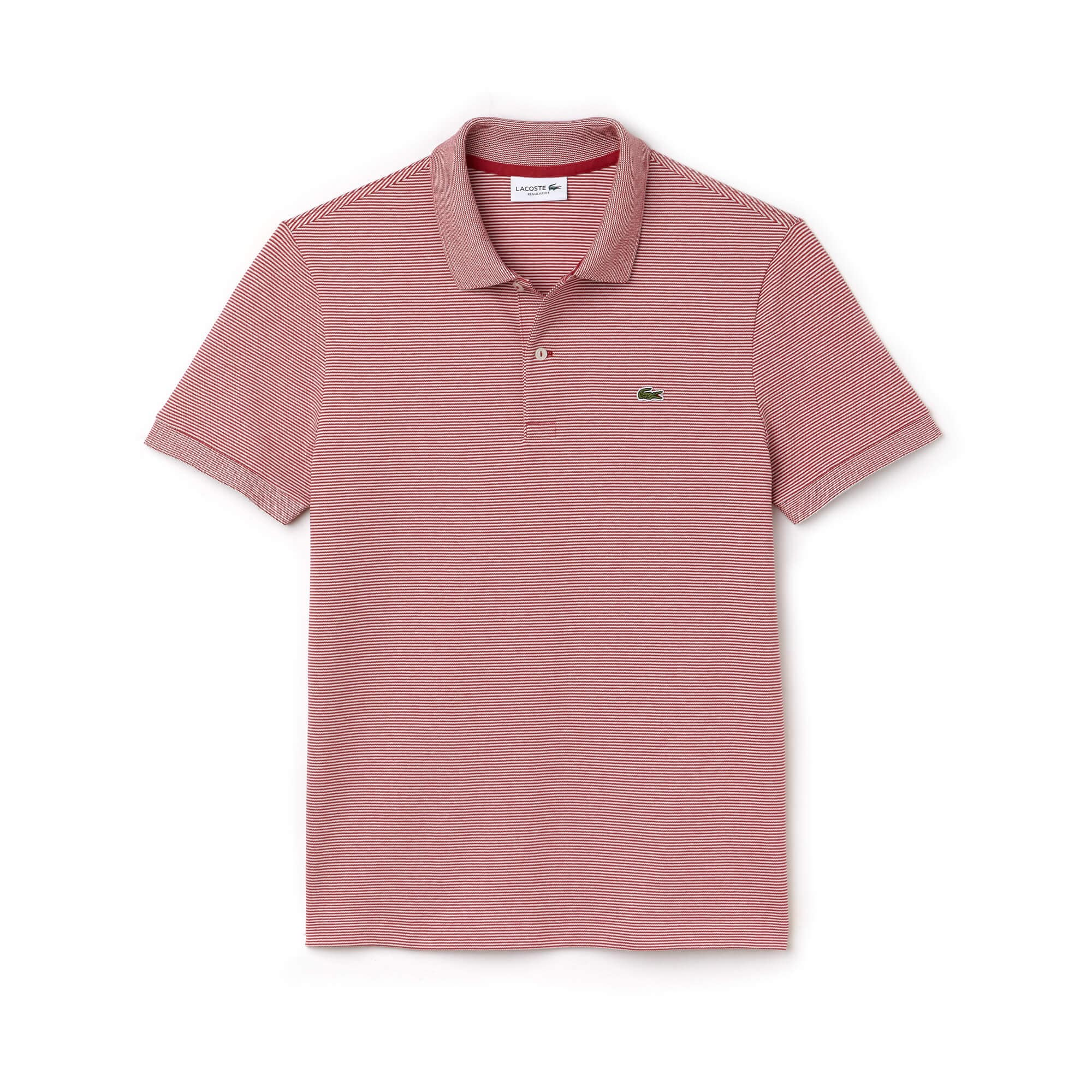 Men's Lacoste Regular Fit Striped Mini Piqué Polo
