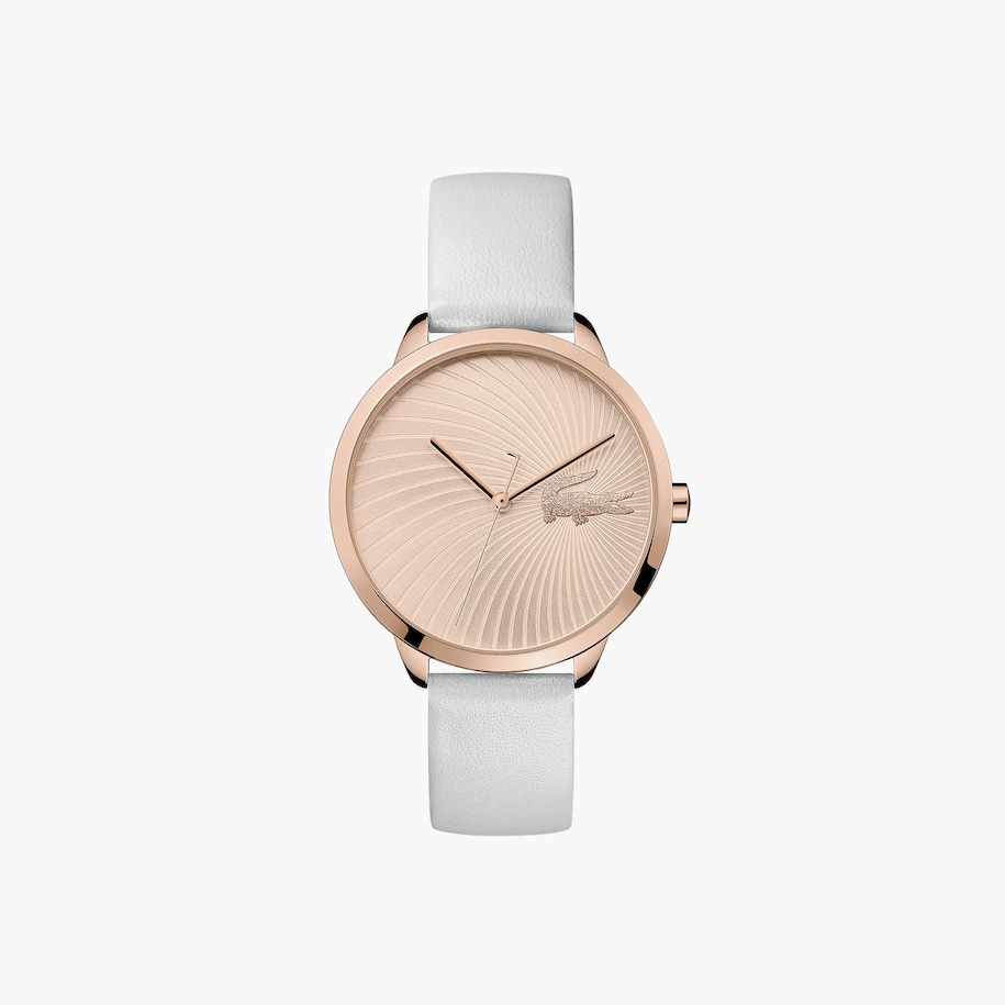 Ladies Lexi Watch with White Leather Strap