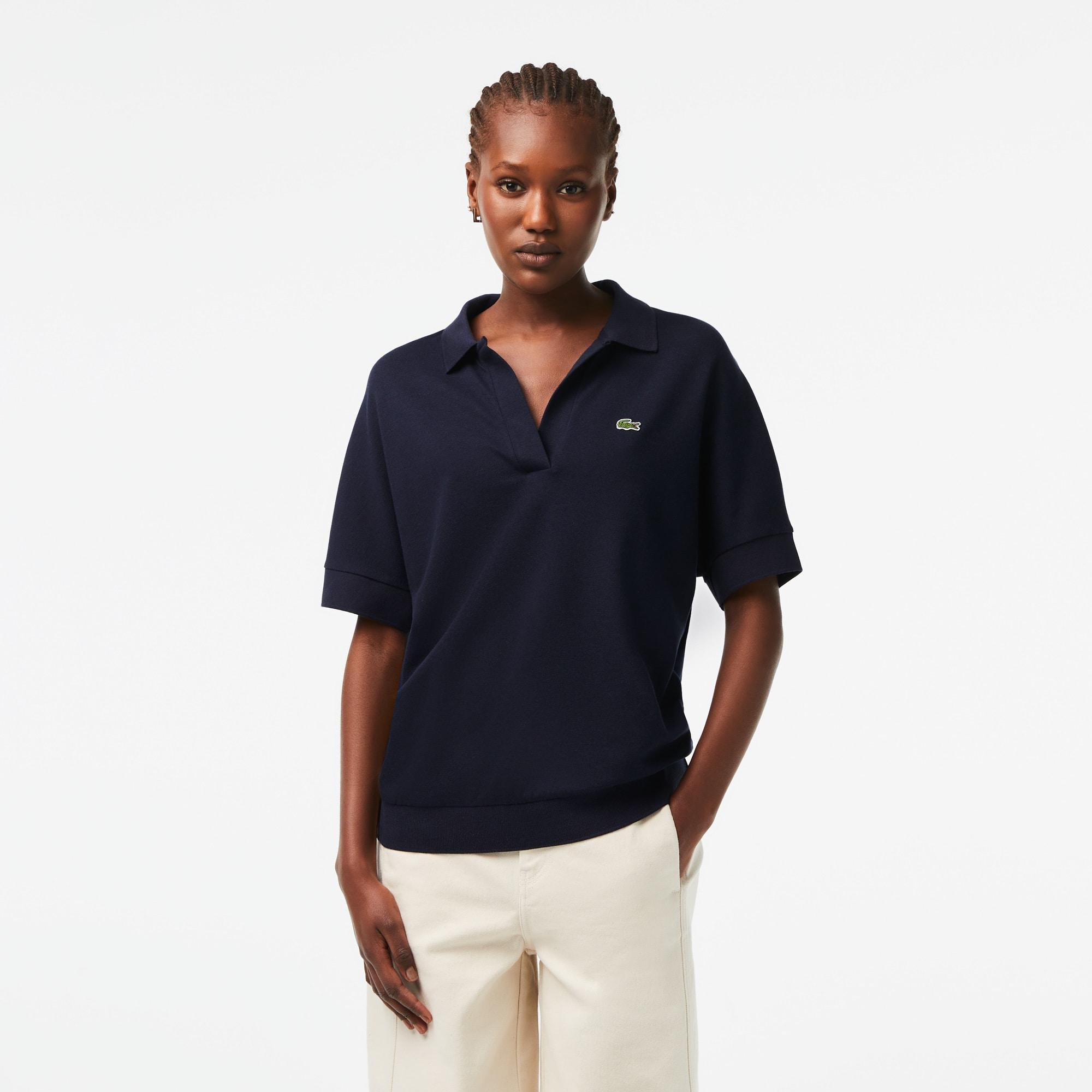 Women's Lacoste Loose fit Flowy Piqué Polo Shirt