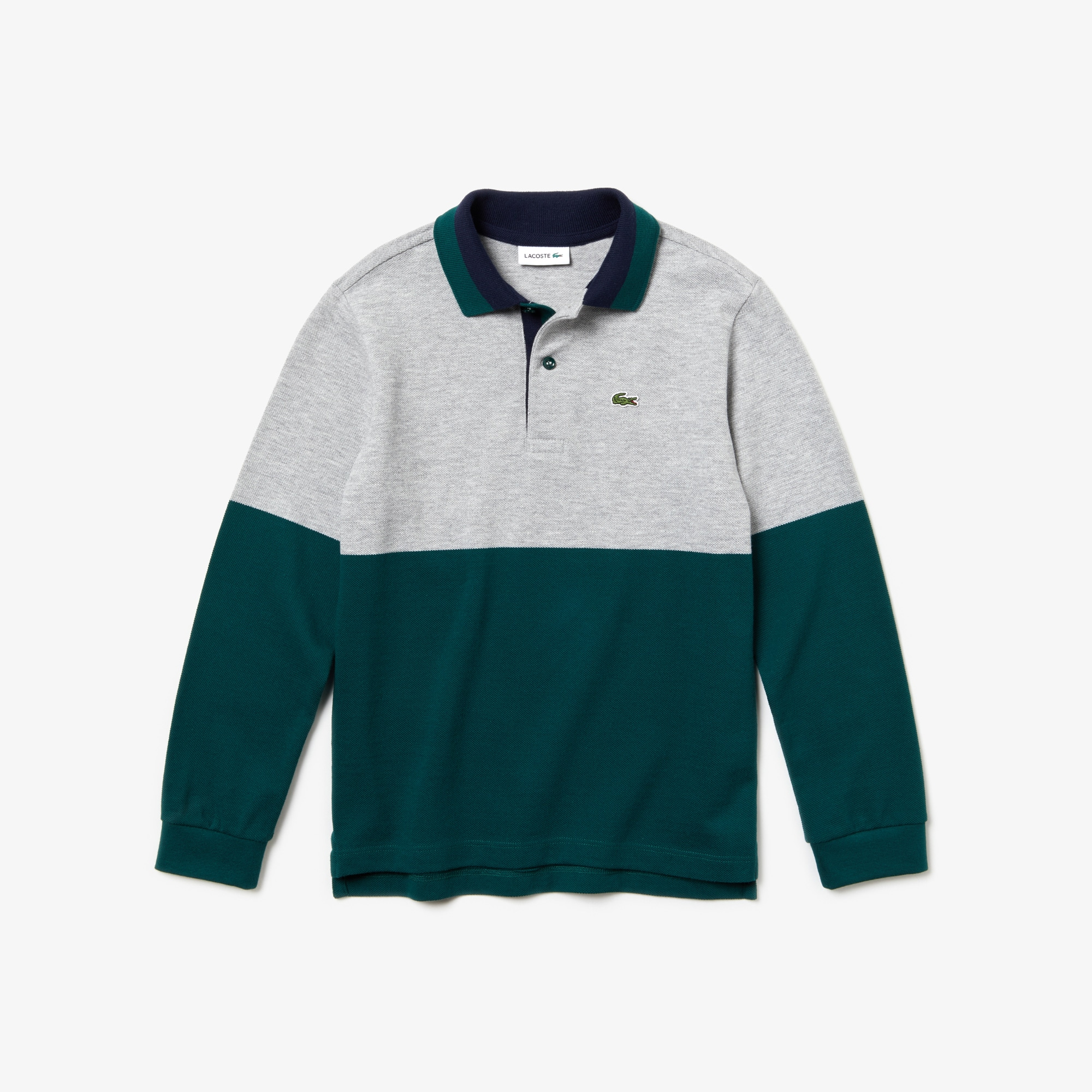 Boys' Lacoste Colourblock Cotton Piqué Polo Shirt