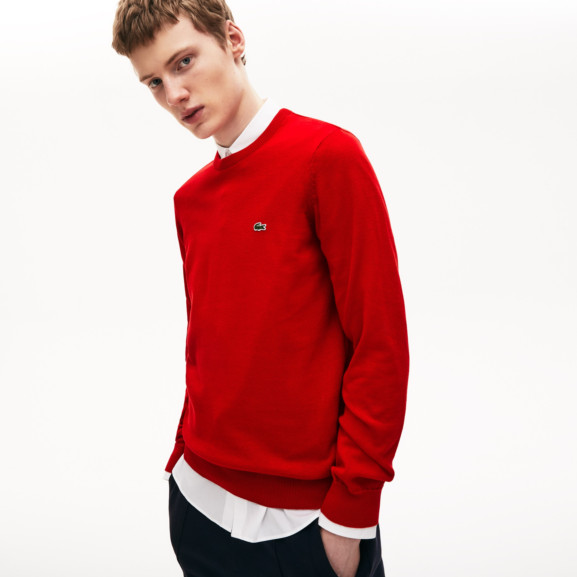 Men's Crew Neck Cotton Jersey Sweater
