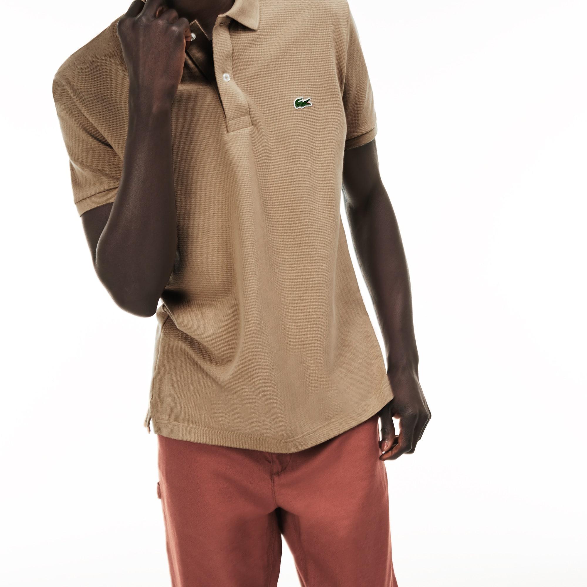 brown lacoste polo