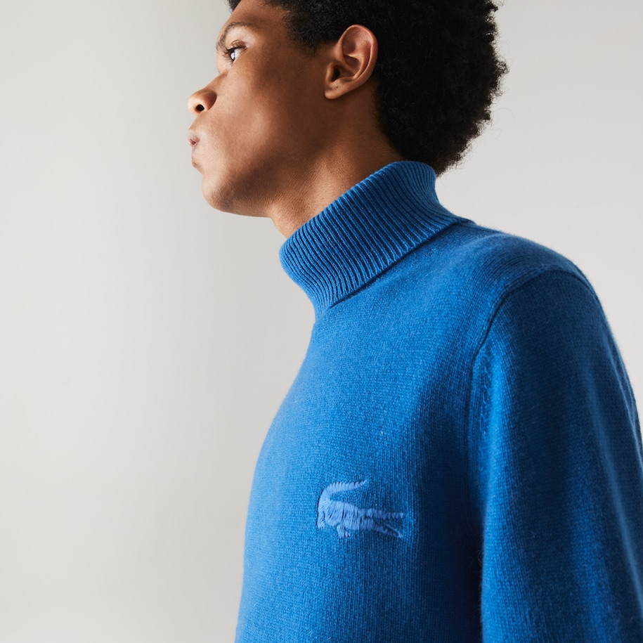 Men's Recycled Cashmere Turtleneck Sweater