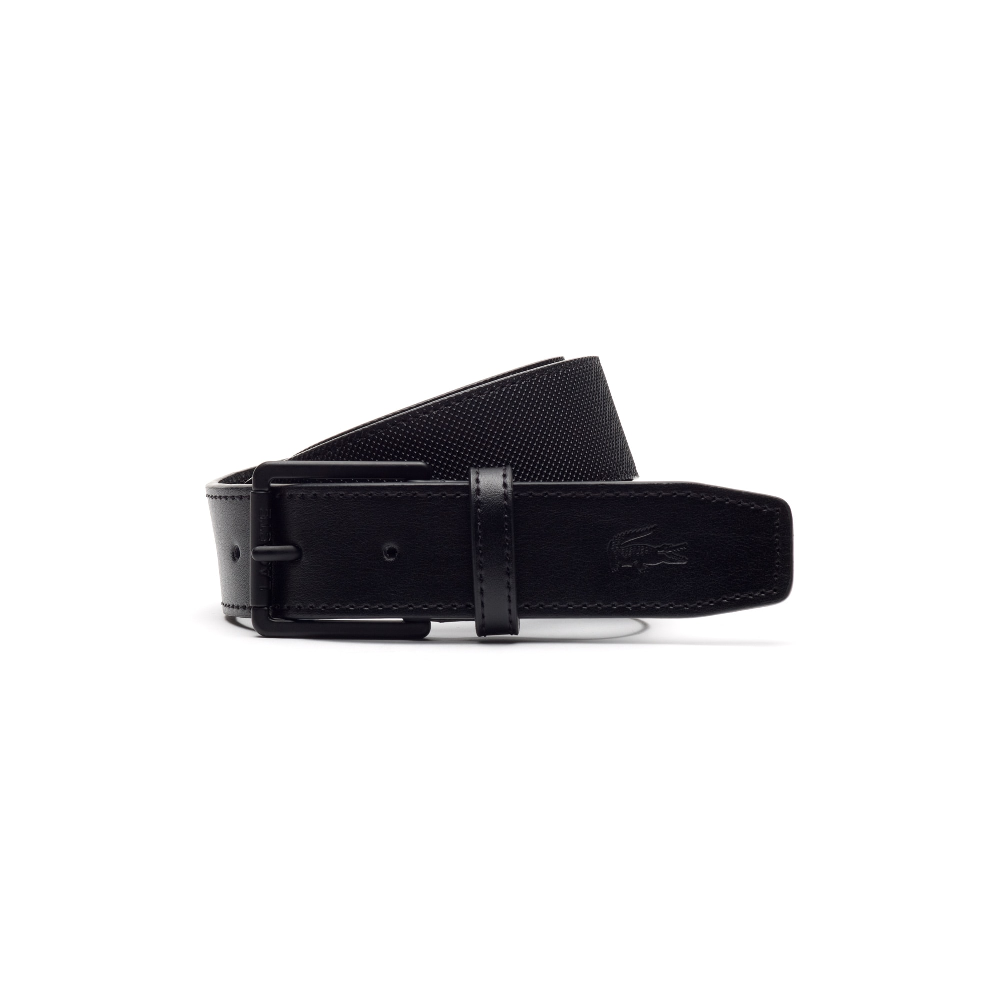 e0ec383891 Men's Classic belt in monochrome petit piqué embossed leather | LACOSTE