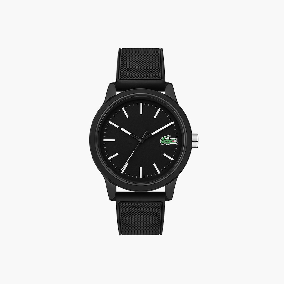 Men'S Lacoste.12.12 Watch With Black Silicone Strap