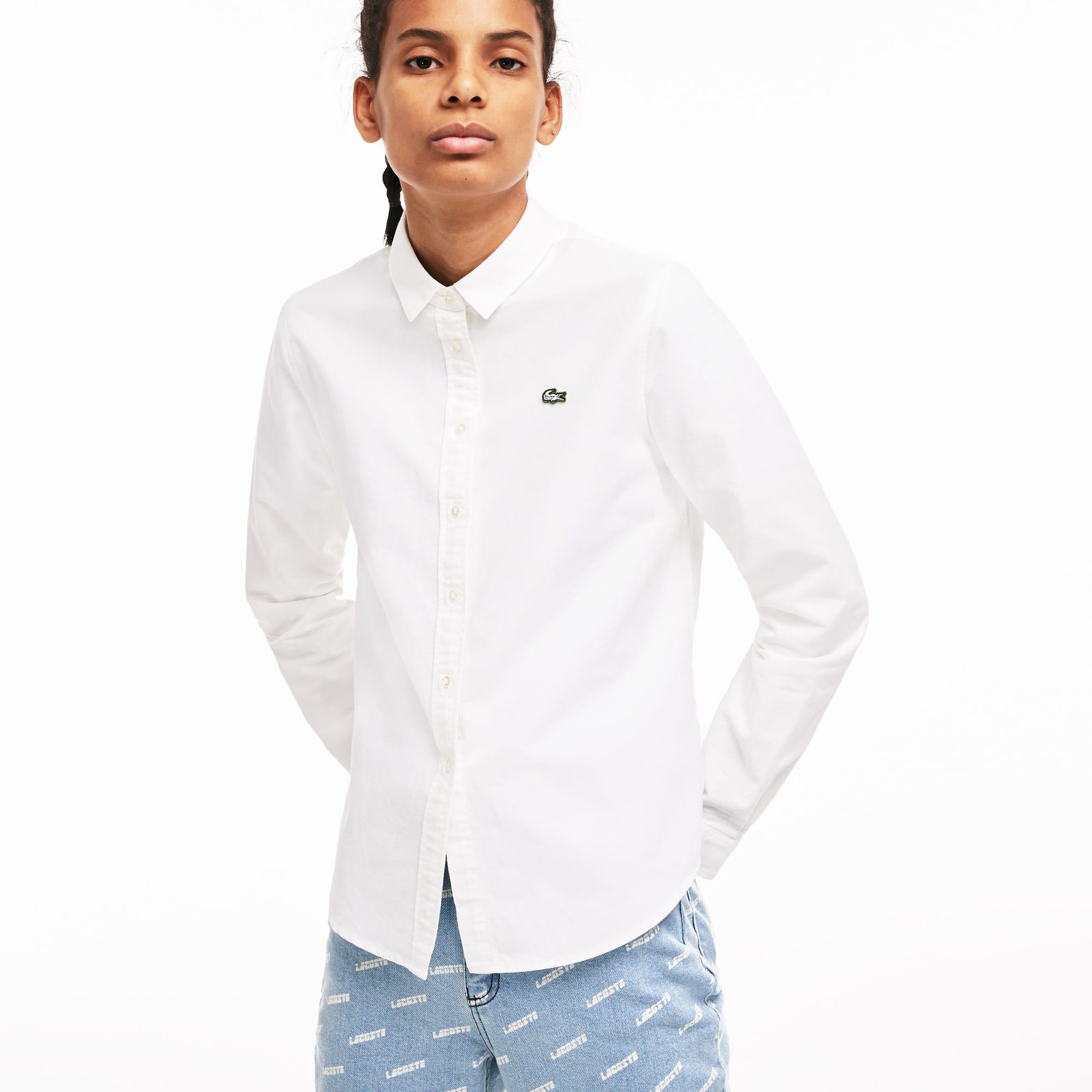 0128c22cce Women's Lacoste LIVE Slim Fit Oxford Cotton Shirt | LACOSTE
