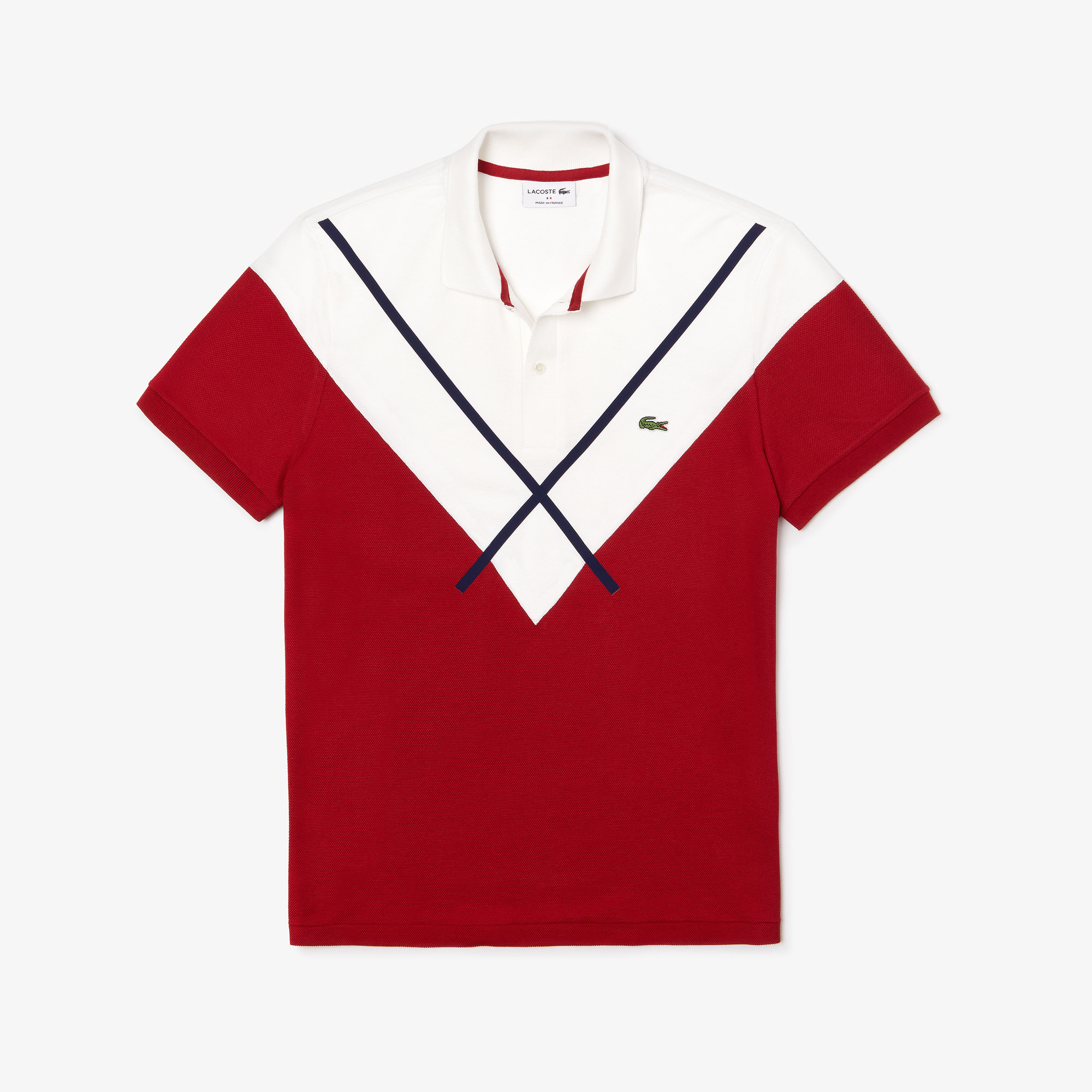 Men's Lacoste Made In France Regular Fit Jacquard Patterned Piqué Polo Shirt