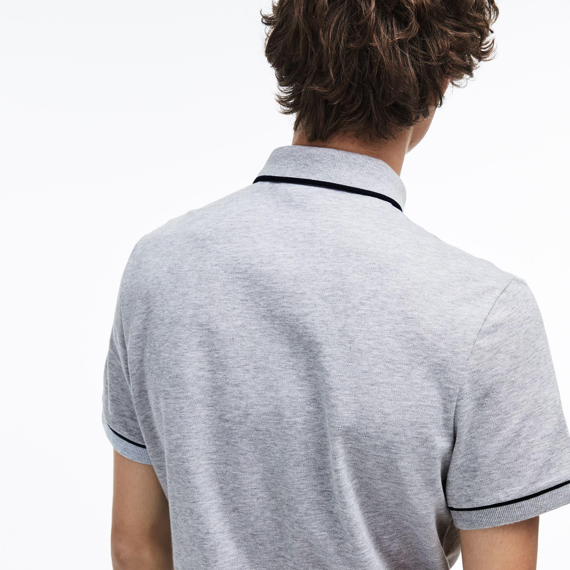 1c3b12b36a Men's Lacoste Regular Fit Piped Stretch Cotton Mini Piqué Polo Shirt ...