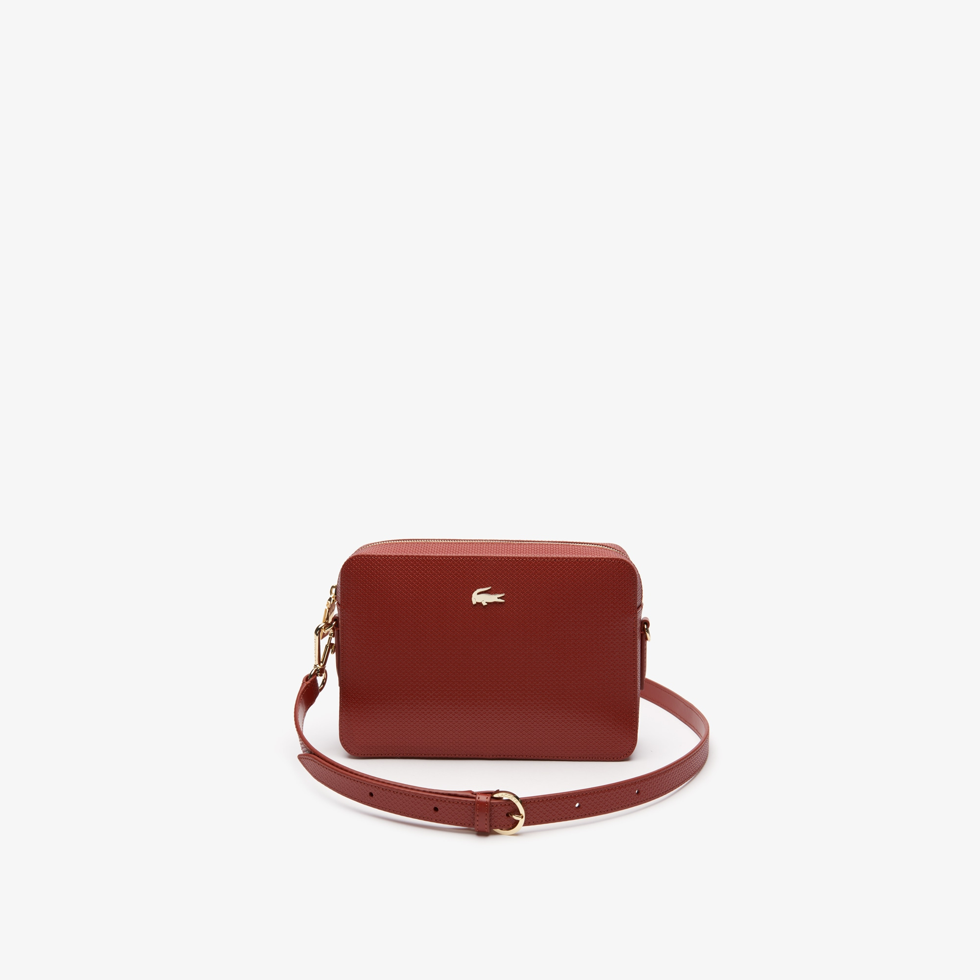 c62fd7403dc Women's Chantaco Piqué Leather Square Shoulder Bag | LACOSTE
