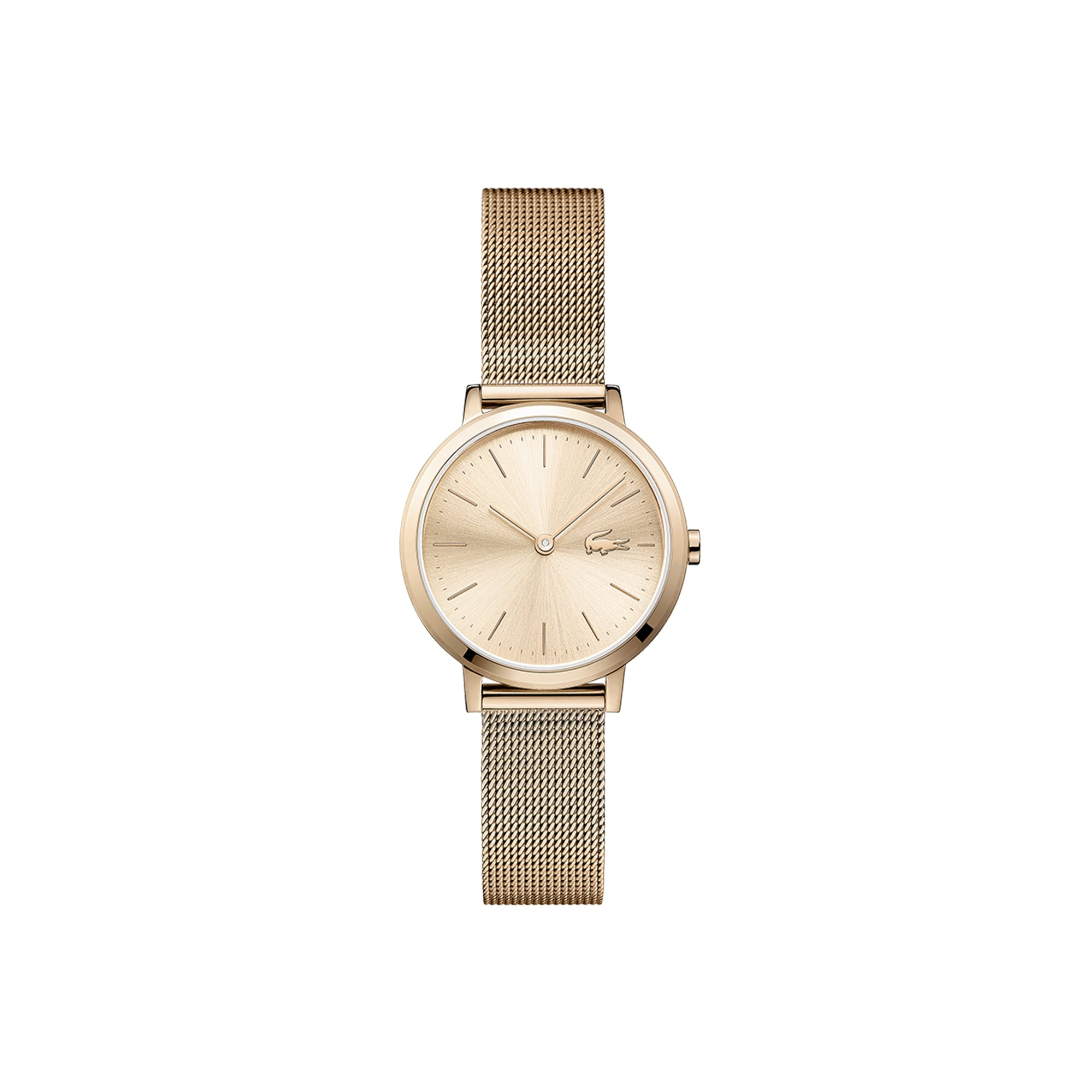 Women's Mini Moon Ultra Slim Watch with Rose Gold Plated Mesh Bracelet