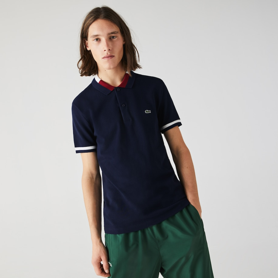 Men's Lacoste Slim fit Contrast Cotton Polo Shirt
