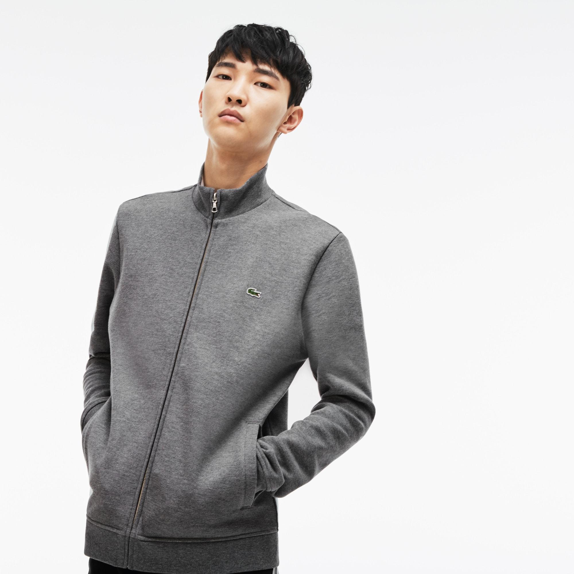 Men's Zip Stand-Up Collar Fleece Sweatshirt