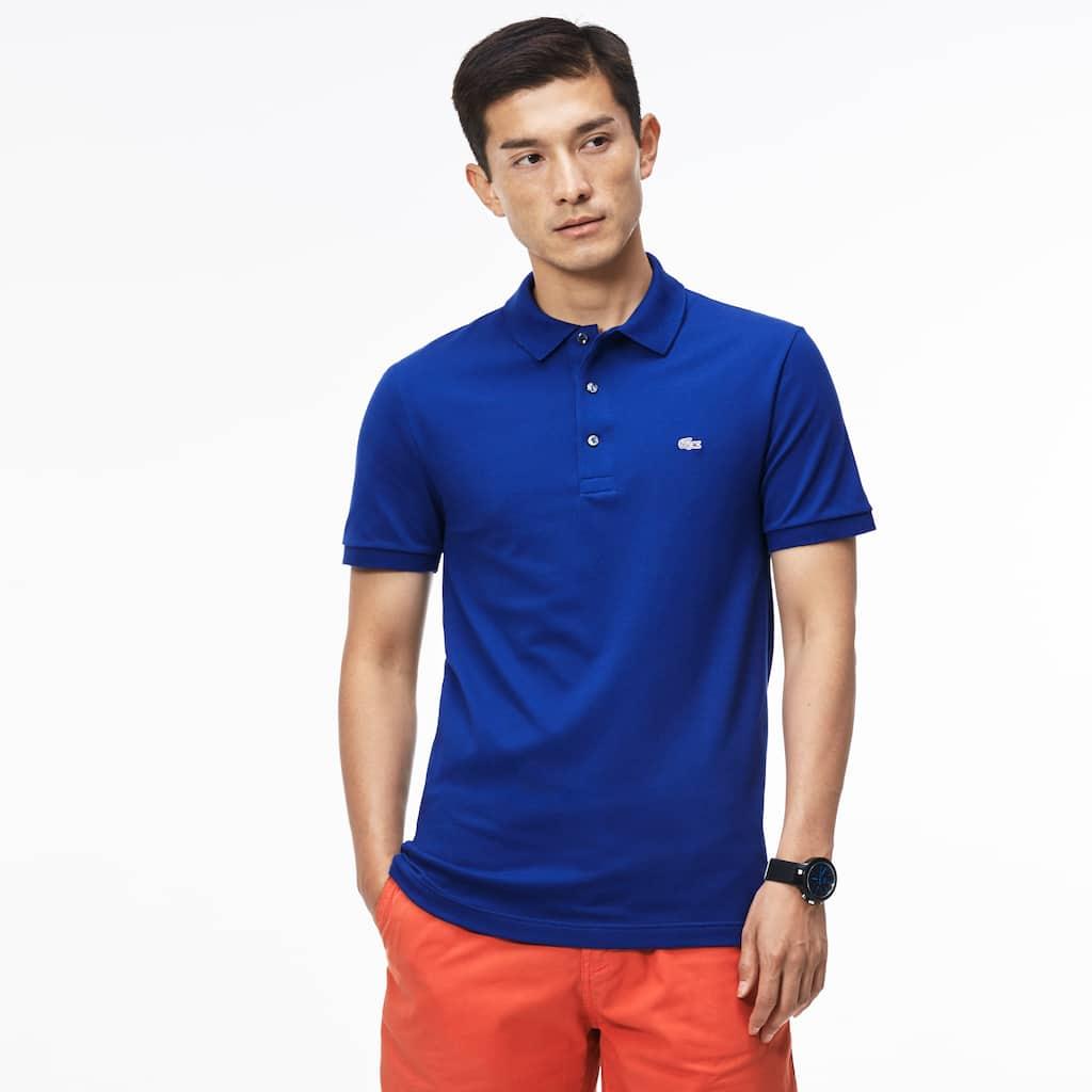 Mens Slim Fit Lacoste Polo Shirt In Stretch Petit Piqu Lacoste