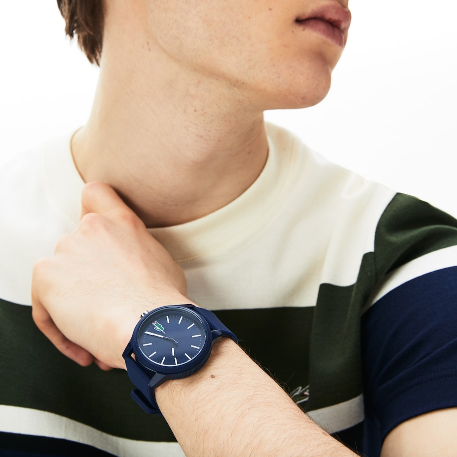 Men's Lacoste.12.12 Watch With Blue Silicone Strap