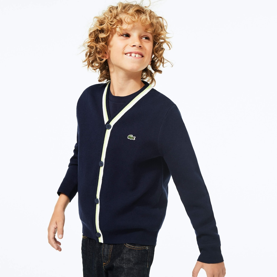 Boy's Button-Up Cotton Cardigan