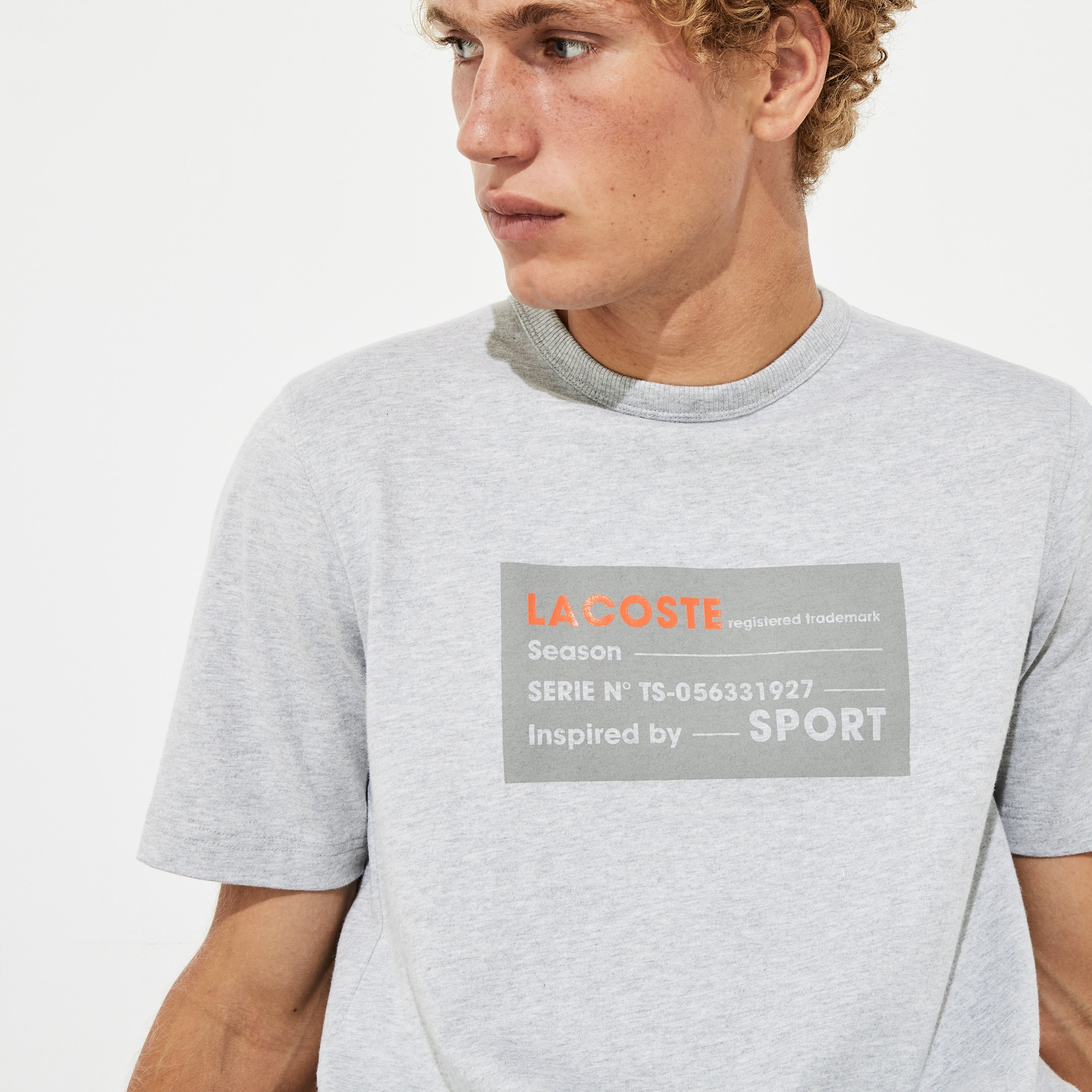 Men's Lacoste SPORT 3D Print Cotton T-shirt