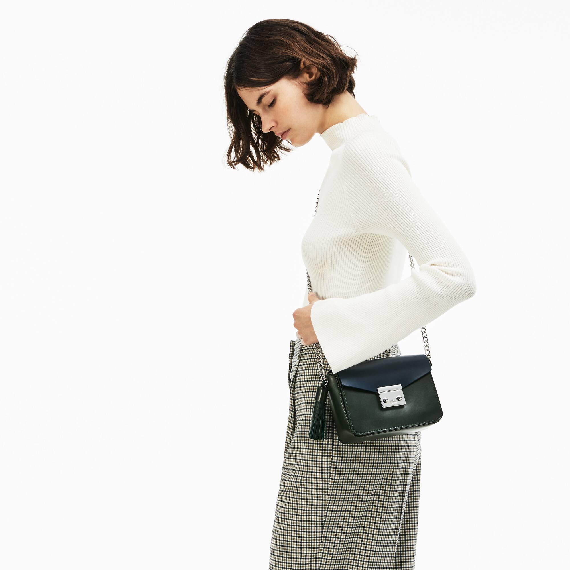 Women's Live Mate Coated Leather Square Shoulder Bag