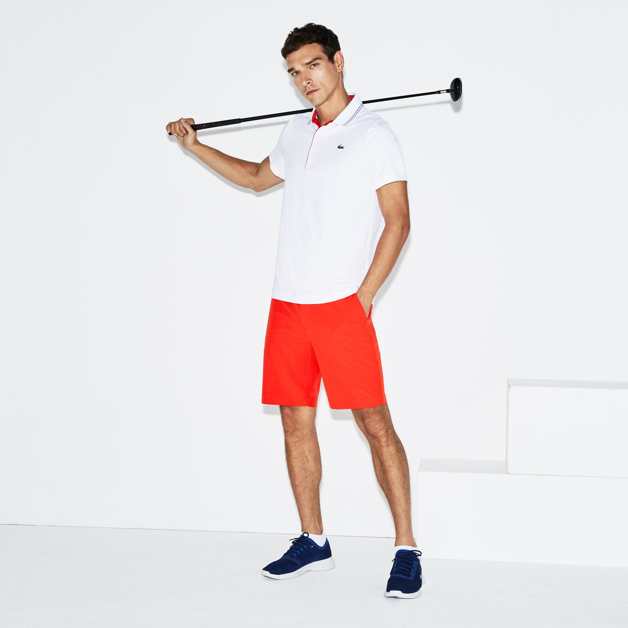 Men's Lacoste SPORT Stretch Taffeta Technical Golf Bermuda Shorts