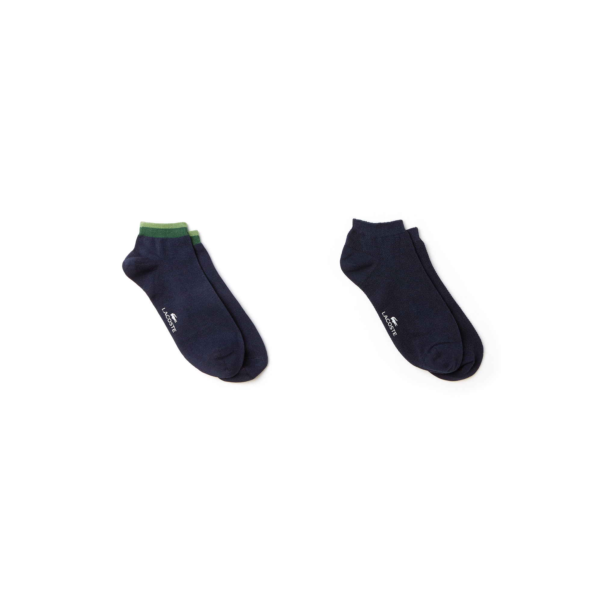 Men's Print And Solid Jersey Piqué Sock Two-Pack