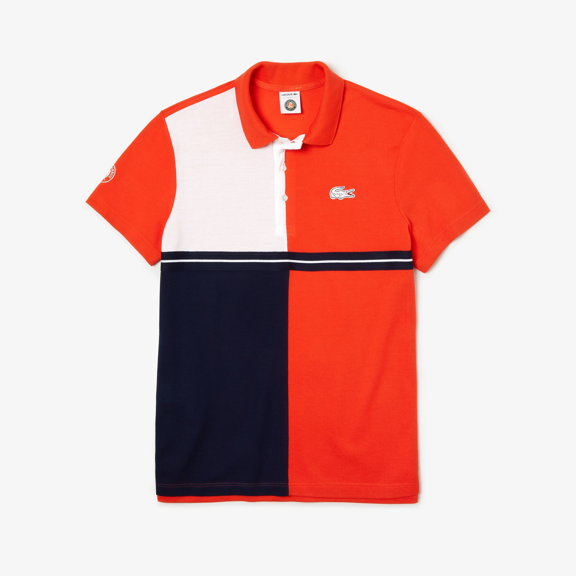 1e59f2297 Men s Lacoste SPORT French Open Colourblock Petit Piqué Polo Shirt ...