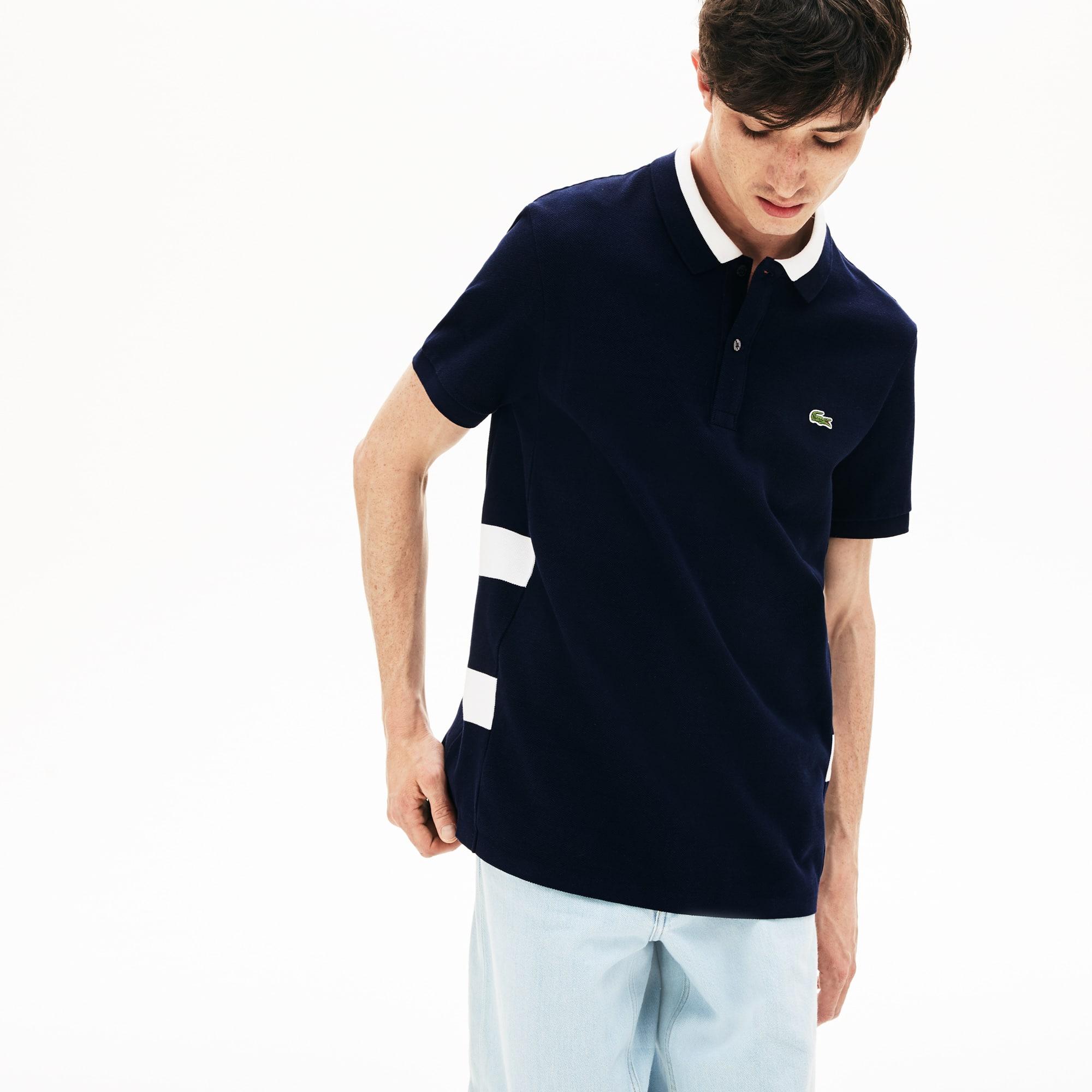 8bb85f1b Men's Lacoste Regular Fit Striped Cotton Petit Piqué Polo Shirt ...