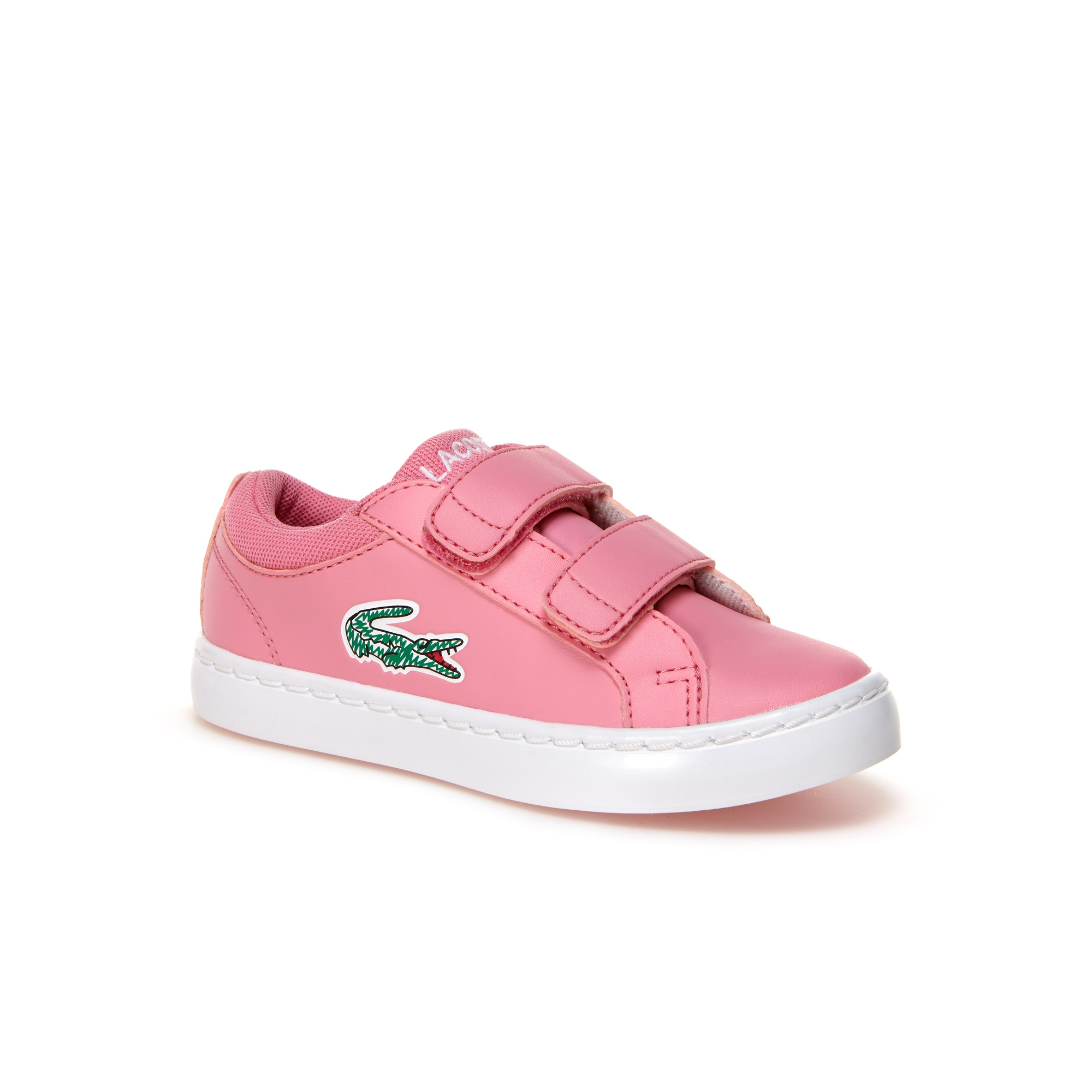 Discount Outlet Locations Free Shipping New Lacoste Straightset Hook and Loop Sneaker(Infants/Toddlers') -Black Synthetic Cheap Fashion Style wKm0BVl