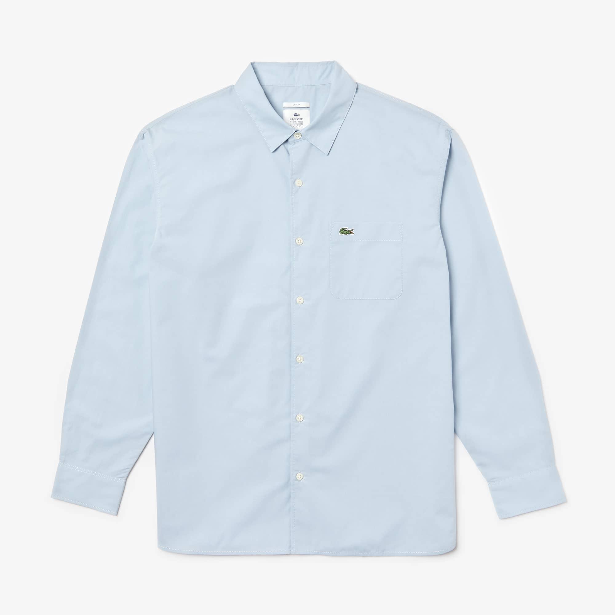 Unisex Lacoste LIVE Boxy Fit Cotton Poplin Shirt