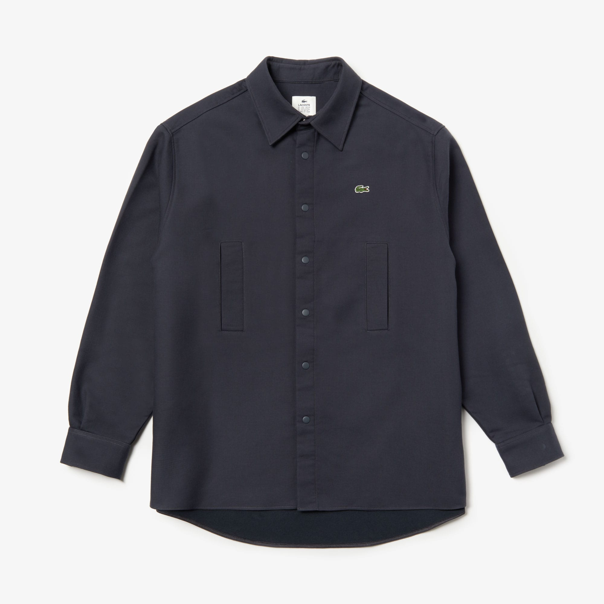Men's Lacoste LIVE Pockets Thick Flannel Overshirt