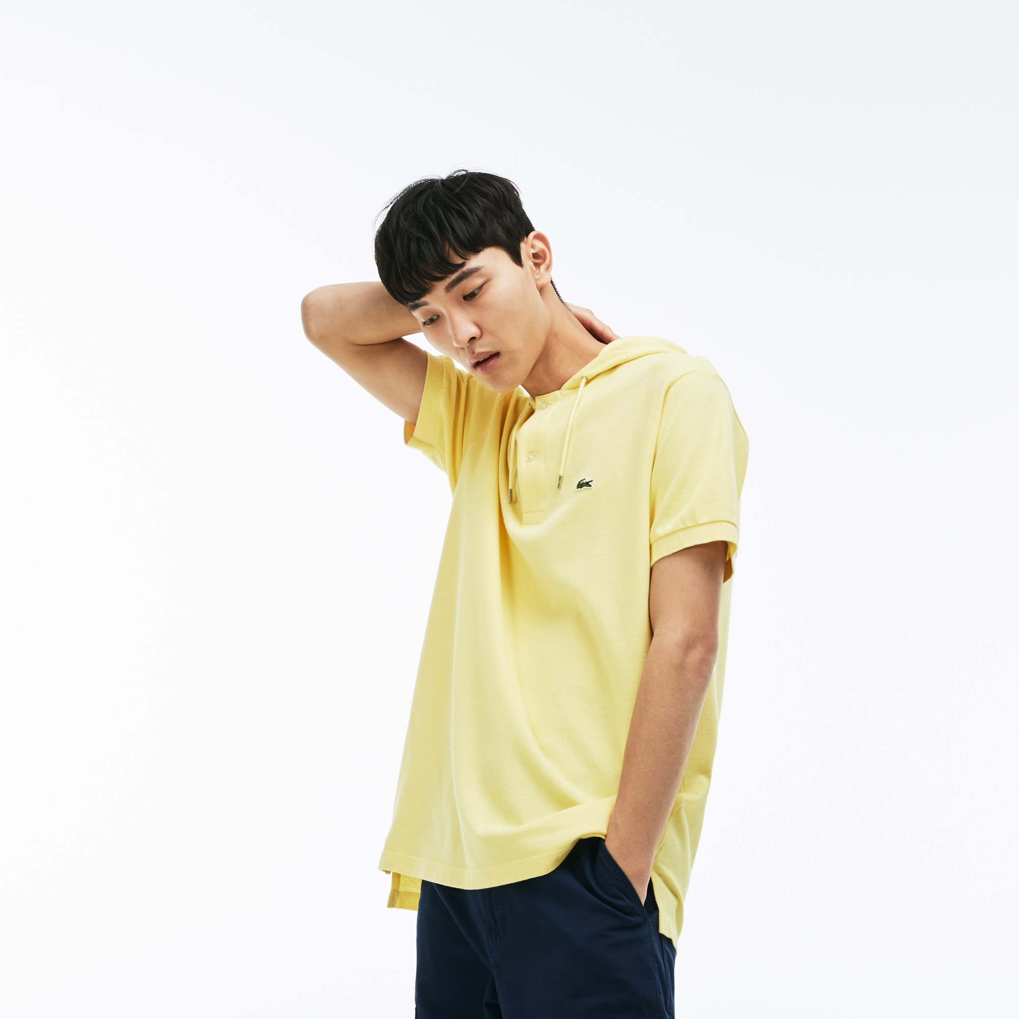 Men's Lacoste Relaxed Fit Faded Petit Piqué Polo