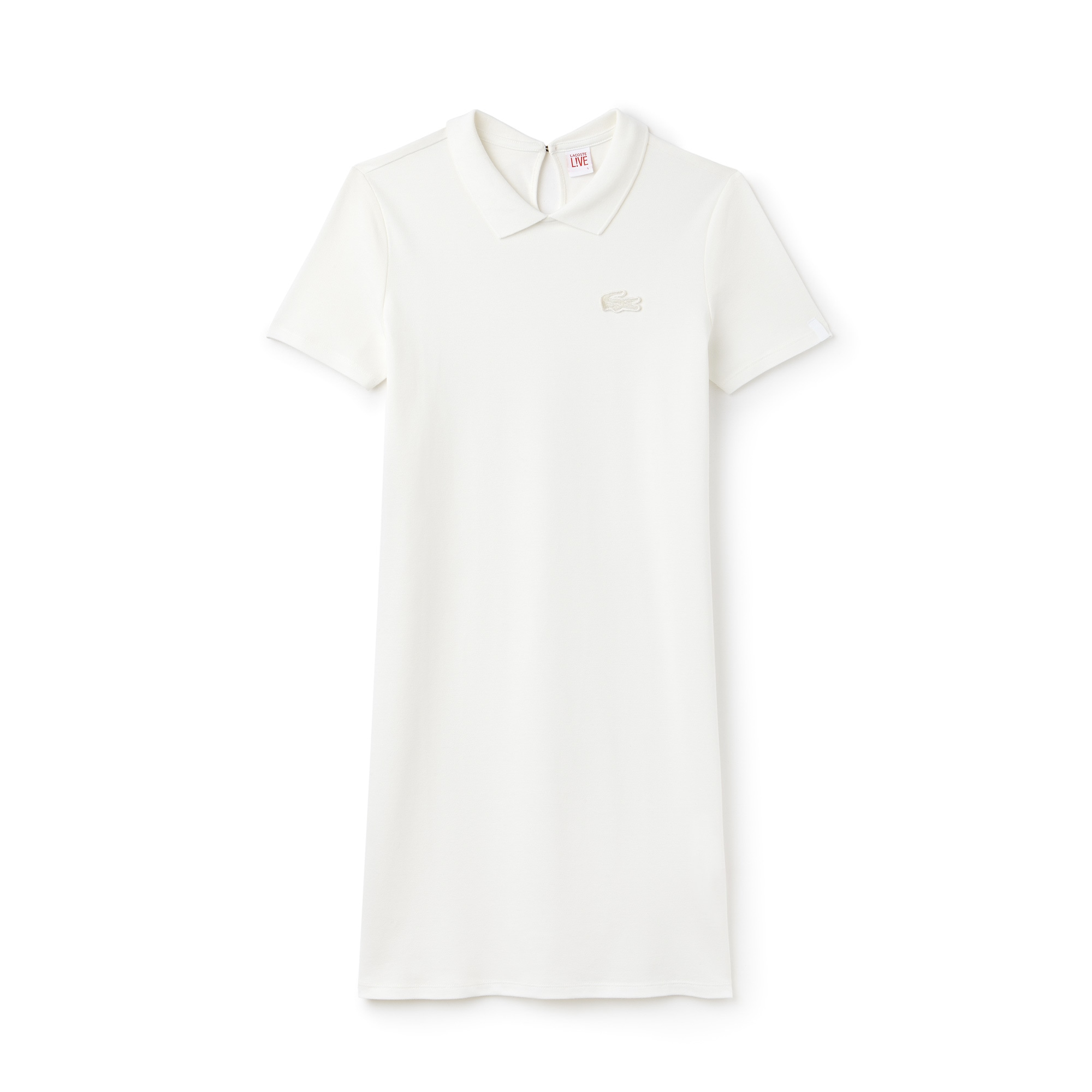 Women's Lacoste LIVE Back Opening Stretch Mini Piqué Polo Dress