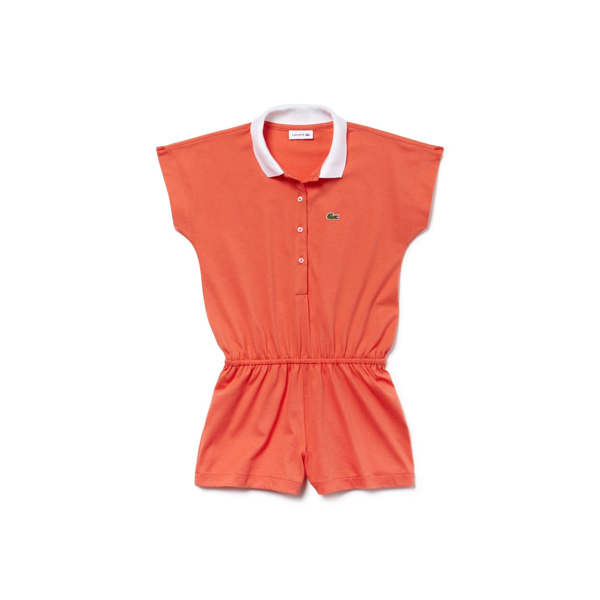 Girls' Cotton Jersey Belted Short Jumper