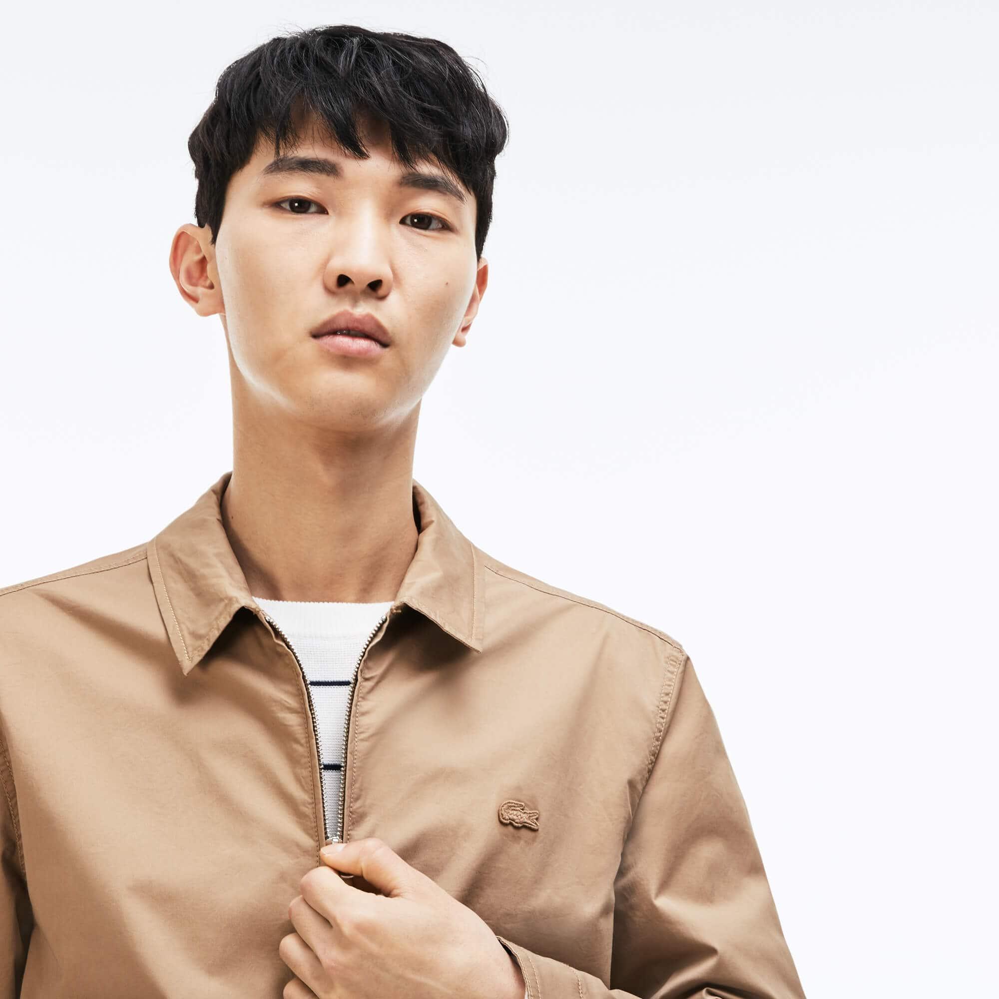 Men's Short Zip Stretch Cotton Twill Jacket