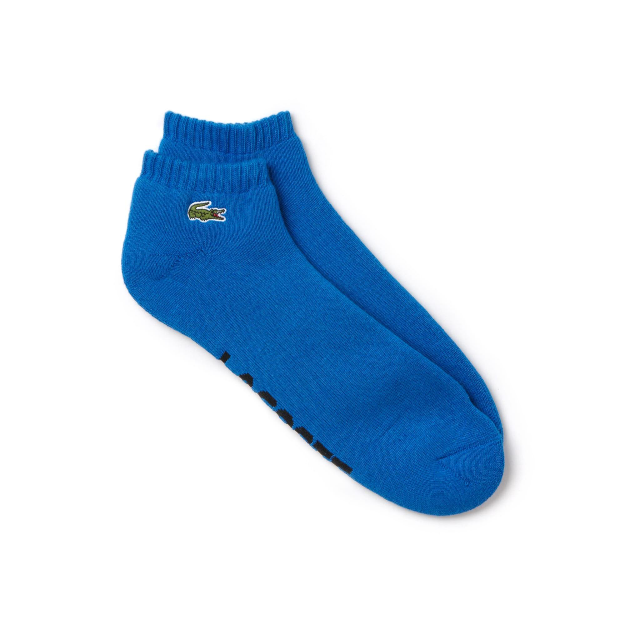 Men's Lacoste SPORT low-cut socks in solid bouclé jersey
