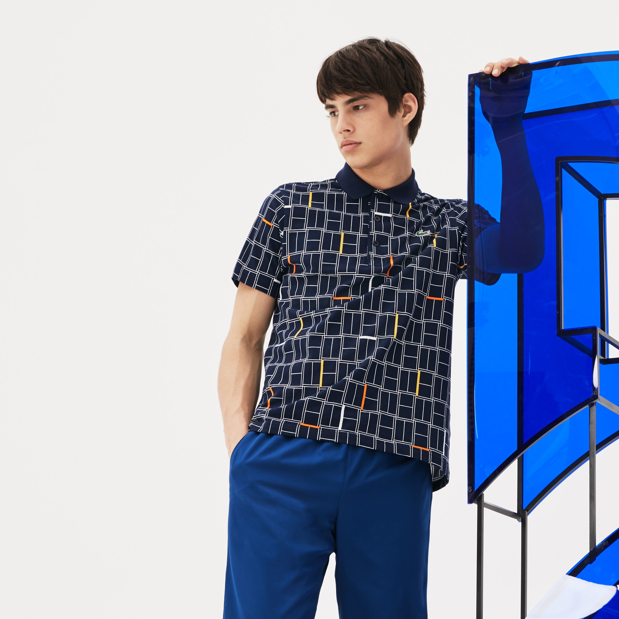 Men's LACOSTE SPORT NOVAK DJOKOVIC COLLECTION Print Ultra-Light Cotton Polo Shirt