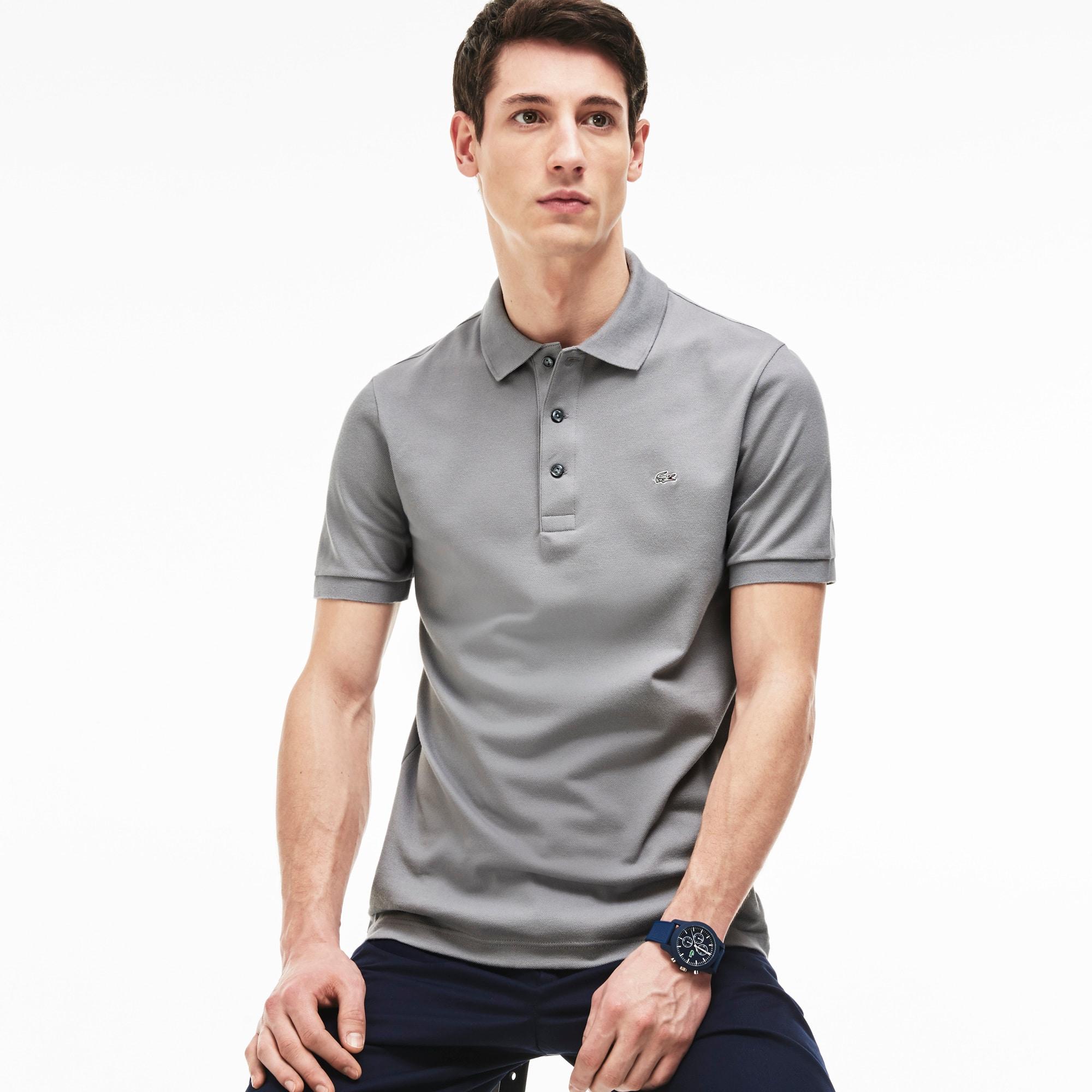 Men's Slim fit Lacoste Polo Shirt in stretch petit piqué