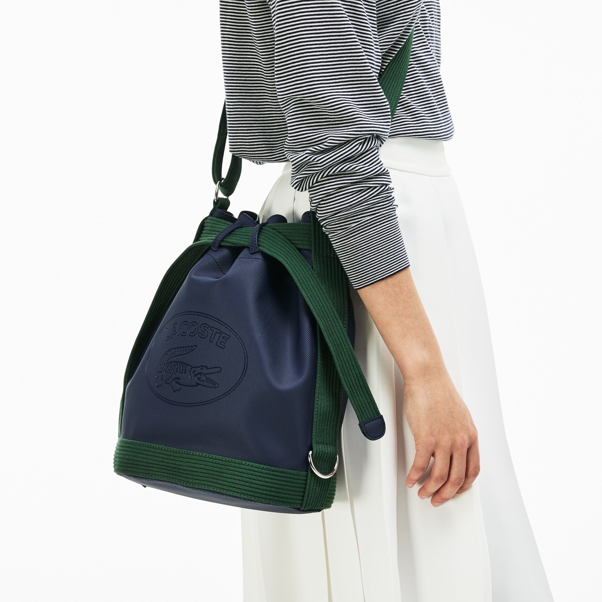 Women's Classic Colorblock Coated Piqué Canvas Bucket Bag