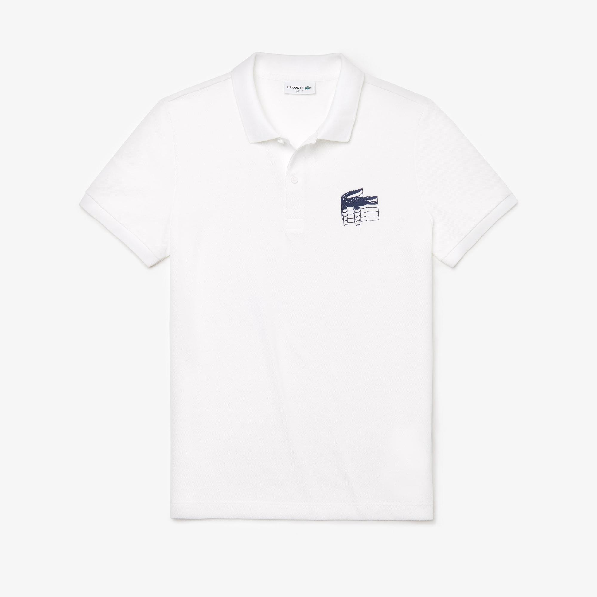 0897b5dc4d Men's Lacoste Slim Fit 3D Croc Cotton Petit Piqué Polo Shirt | LACOSTE