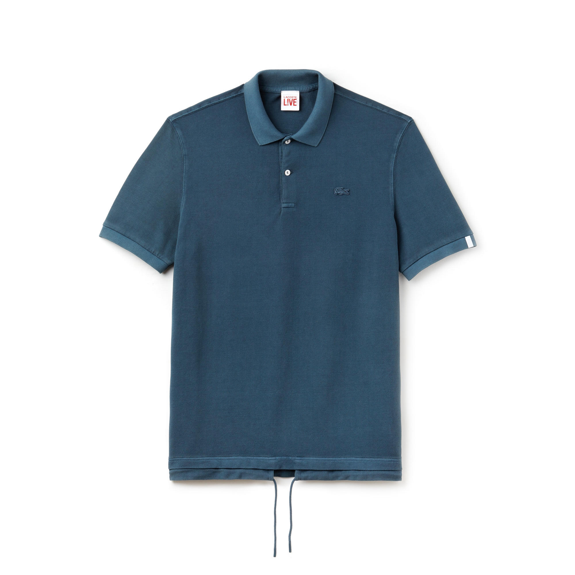 Men's Lacoste LIVE Drawstring Faded Petit Piqué Polo Shirt