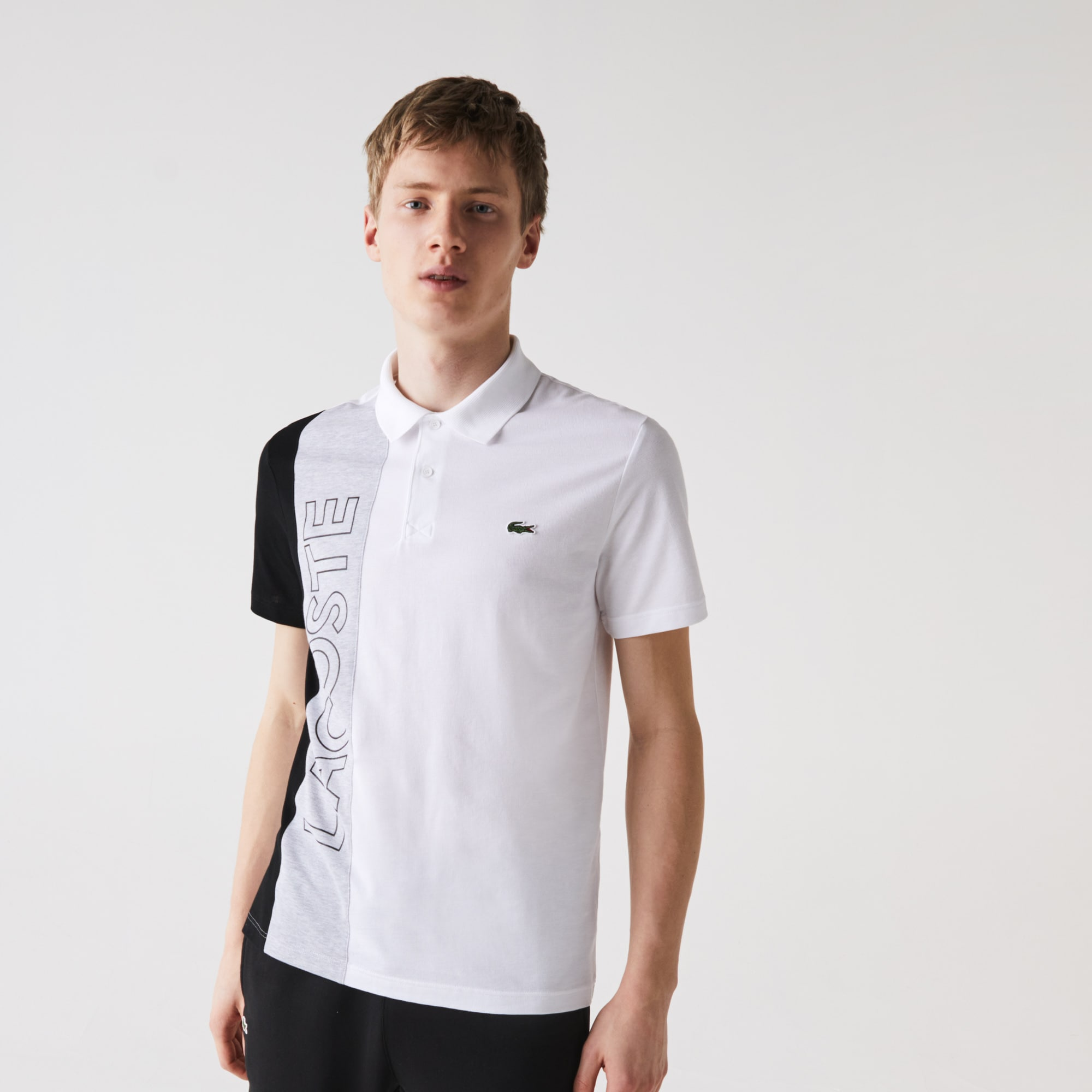 short sleeve Lacoste Ultra Lightweight Knit Polo Shirt in Silver Chine Grey