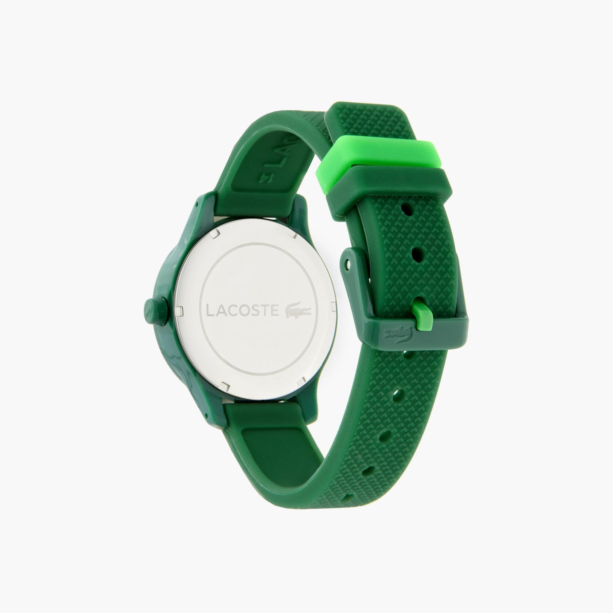 Kids Lacoste 12.12 Watch with Green Silicone Strap