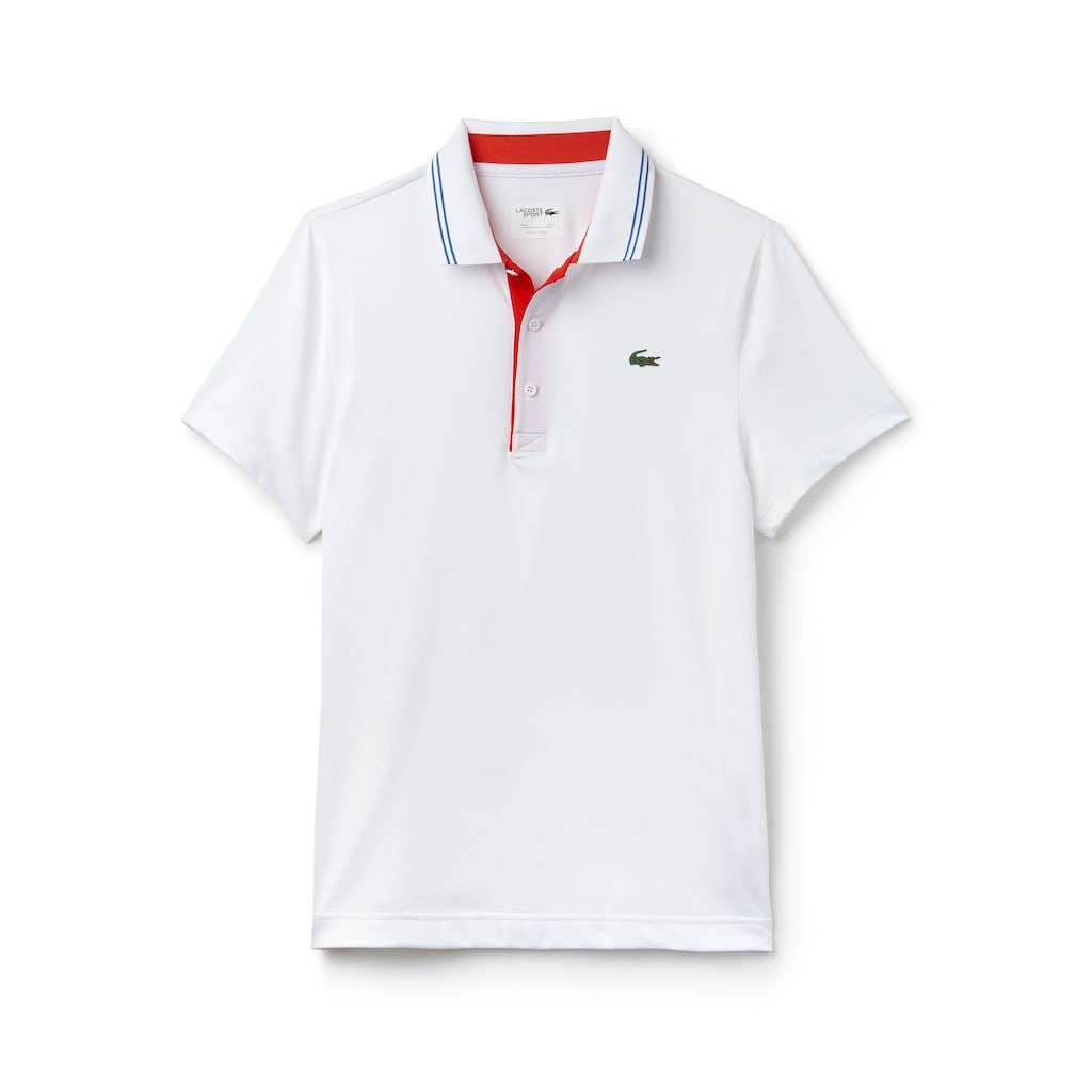 Mens Lacoste Sport Lettering Stretch Technical Jersey Golf Polo