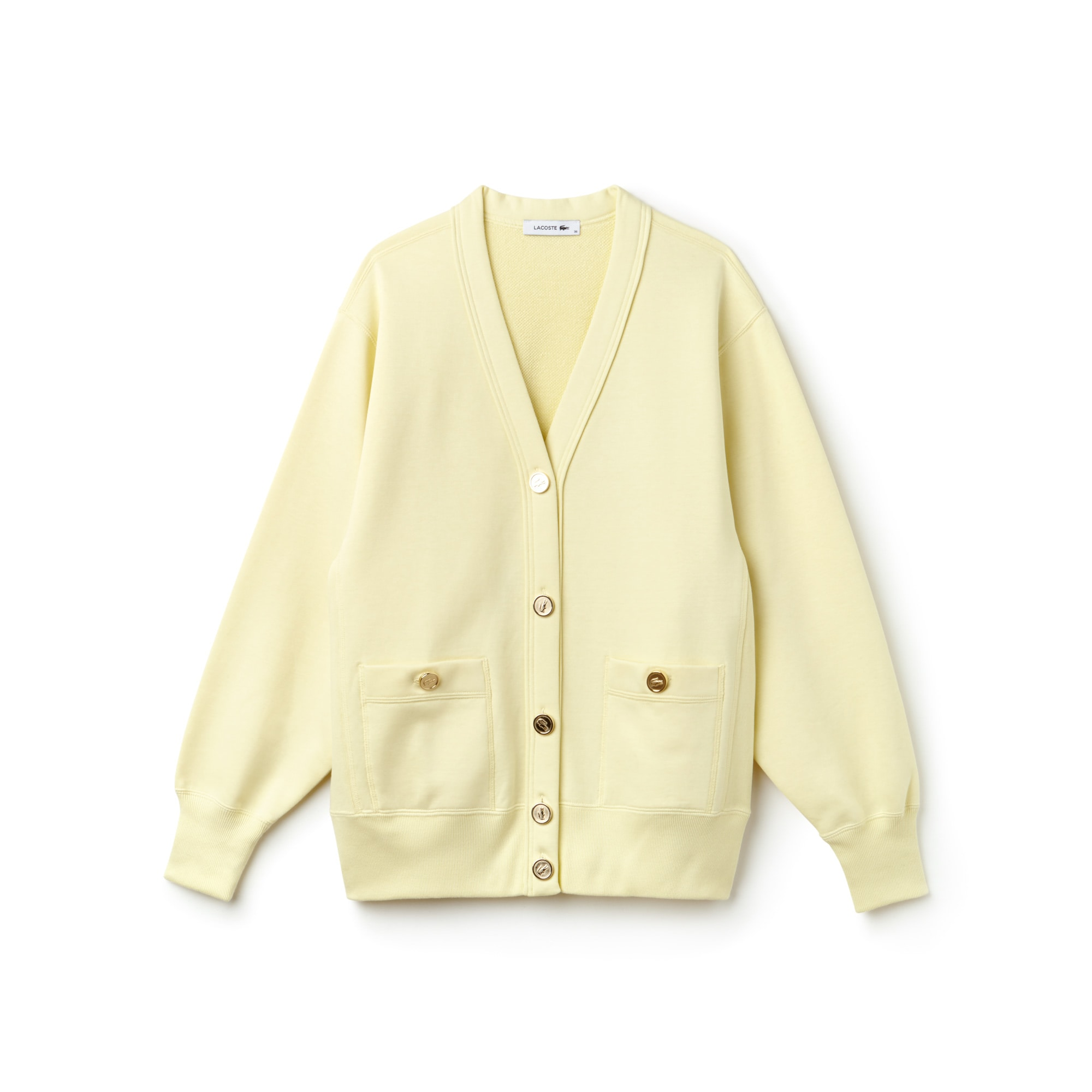 Women's Fashion Show Buttoned Cotton Fleece Cardigan